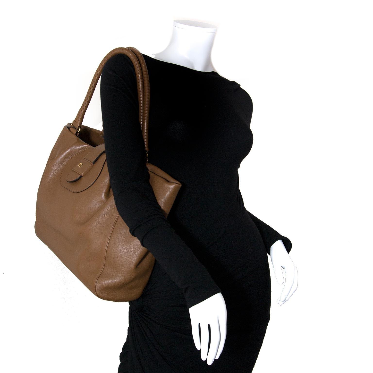 delvaux brown shopper now for sale at labellov vintage fashion webshop belgium