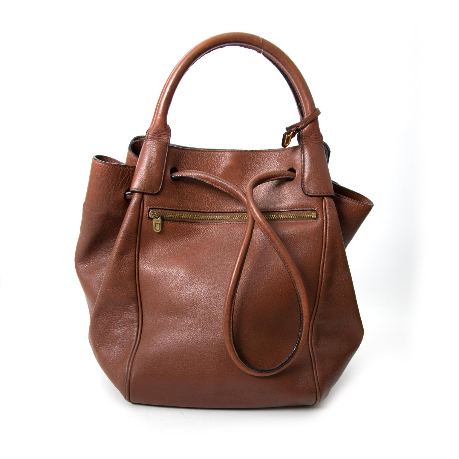 shop safe online at the best price secondhand koop veilig online tweedehands Delvaux Brown Brillant MM + Strap