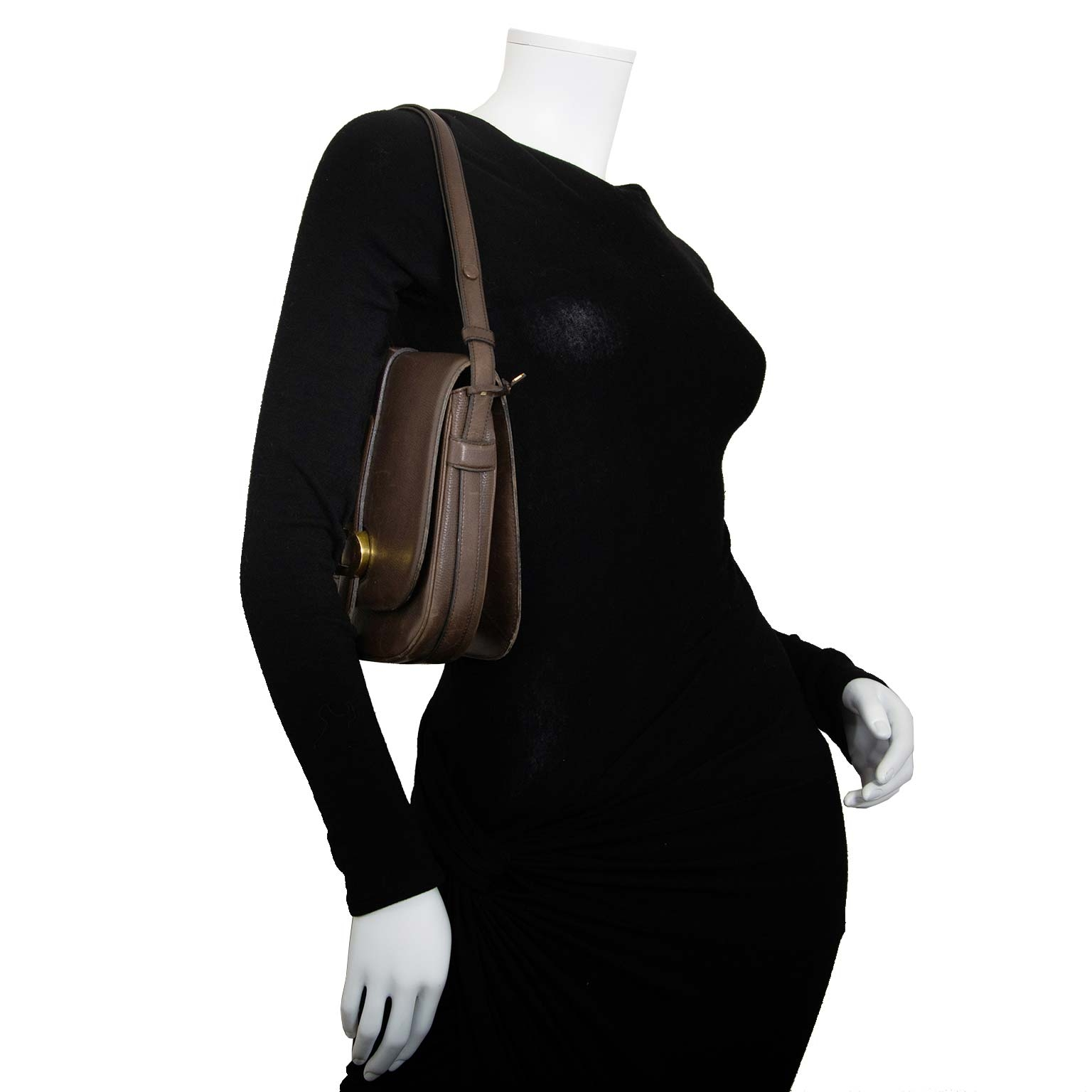 delvaux brown leather flap bag now for sale at labellov vintage fashion webshop belgium