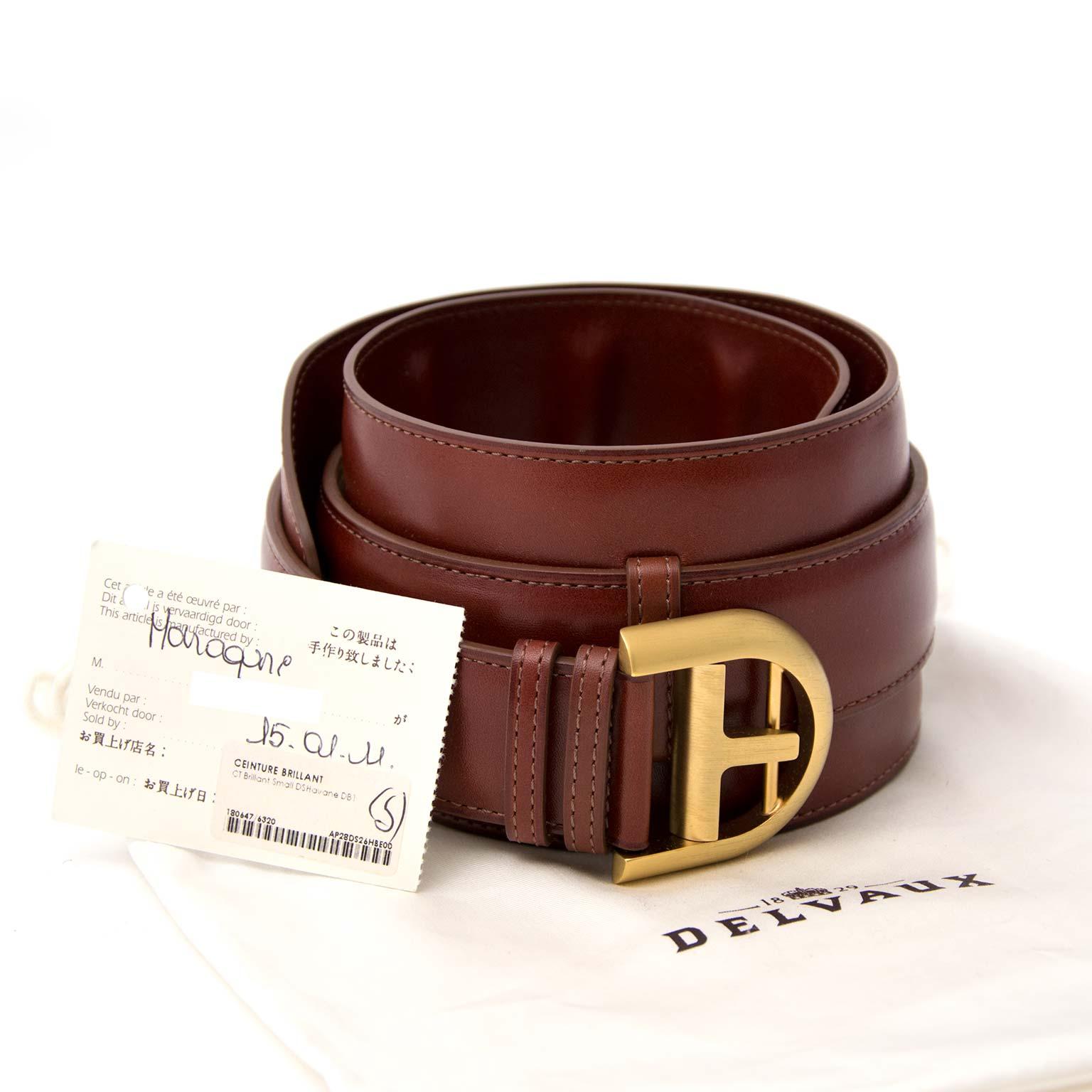 Havane Delvaux Brown Leather Oversized Waist Belt