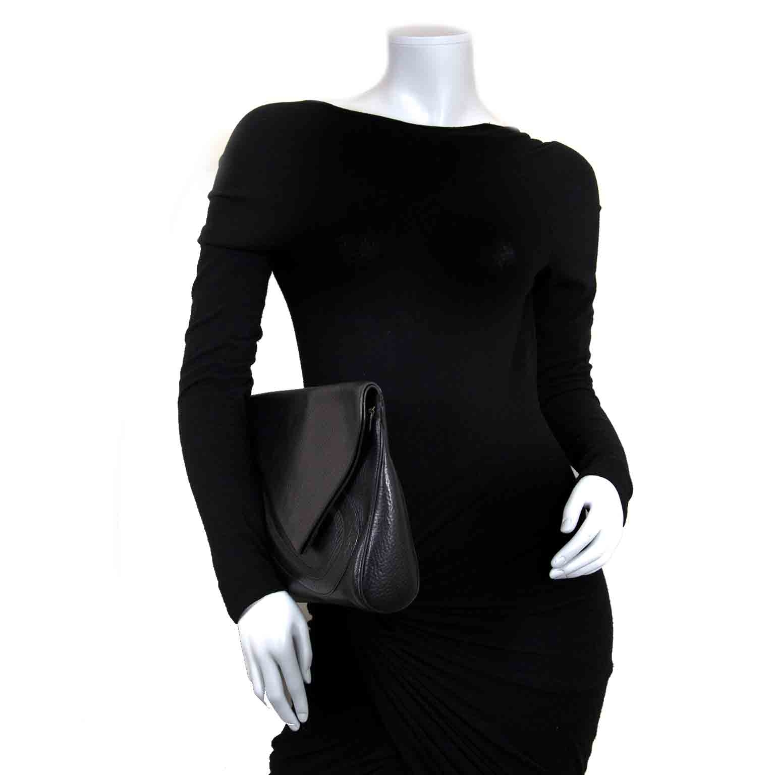delvaux briudille gm black clutch now for sale at labellov vintage fashion webshop belgium