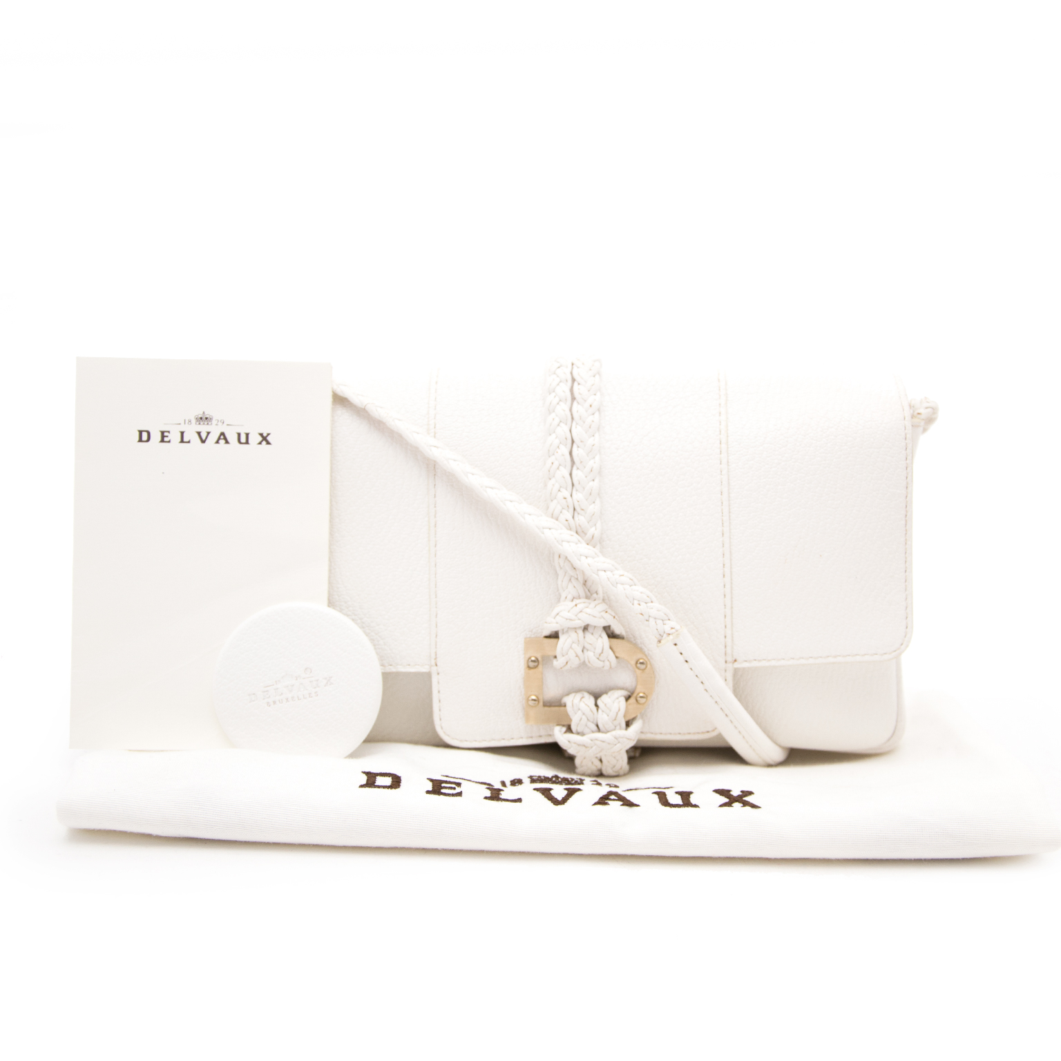 koop online aan de beste prijs Delvaux White Colette Tresse PM