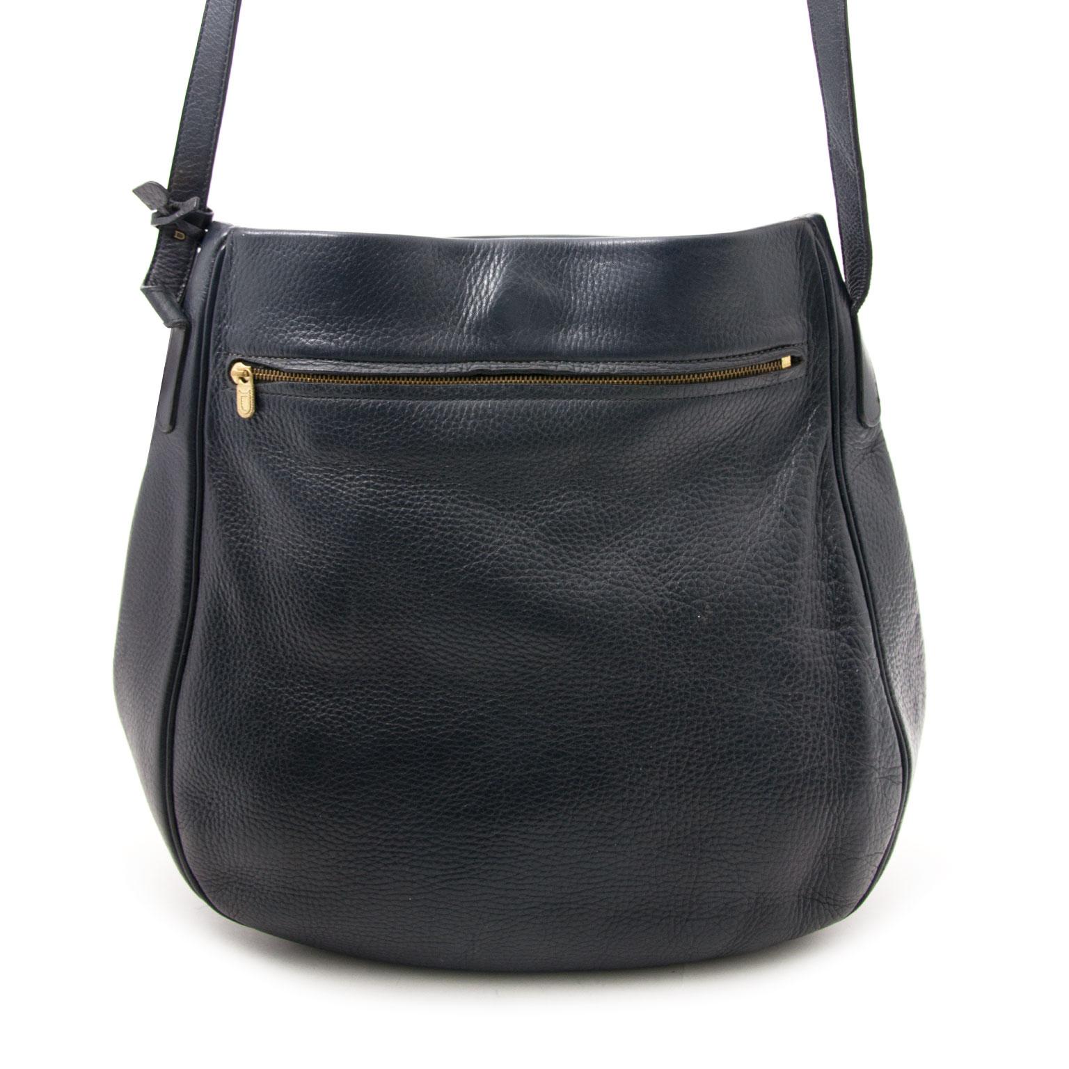 Delvaux Blue Bannière Hobo Shoulder Bag buy and sell your designer items.
