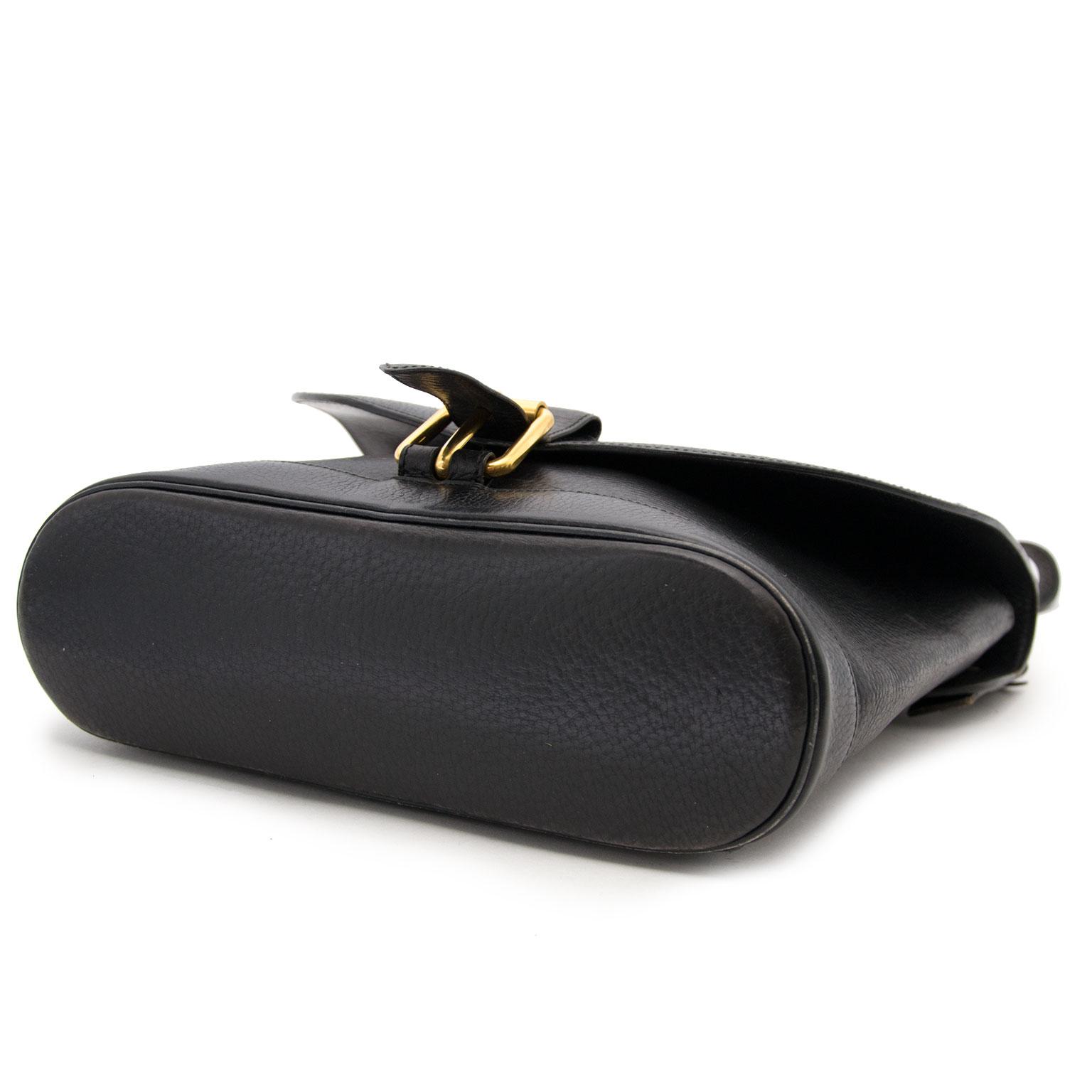 Acheter secur en ligne votre sac a mains Delvaux en cuir noir pour le meilleur prix
