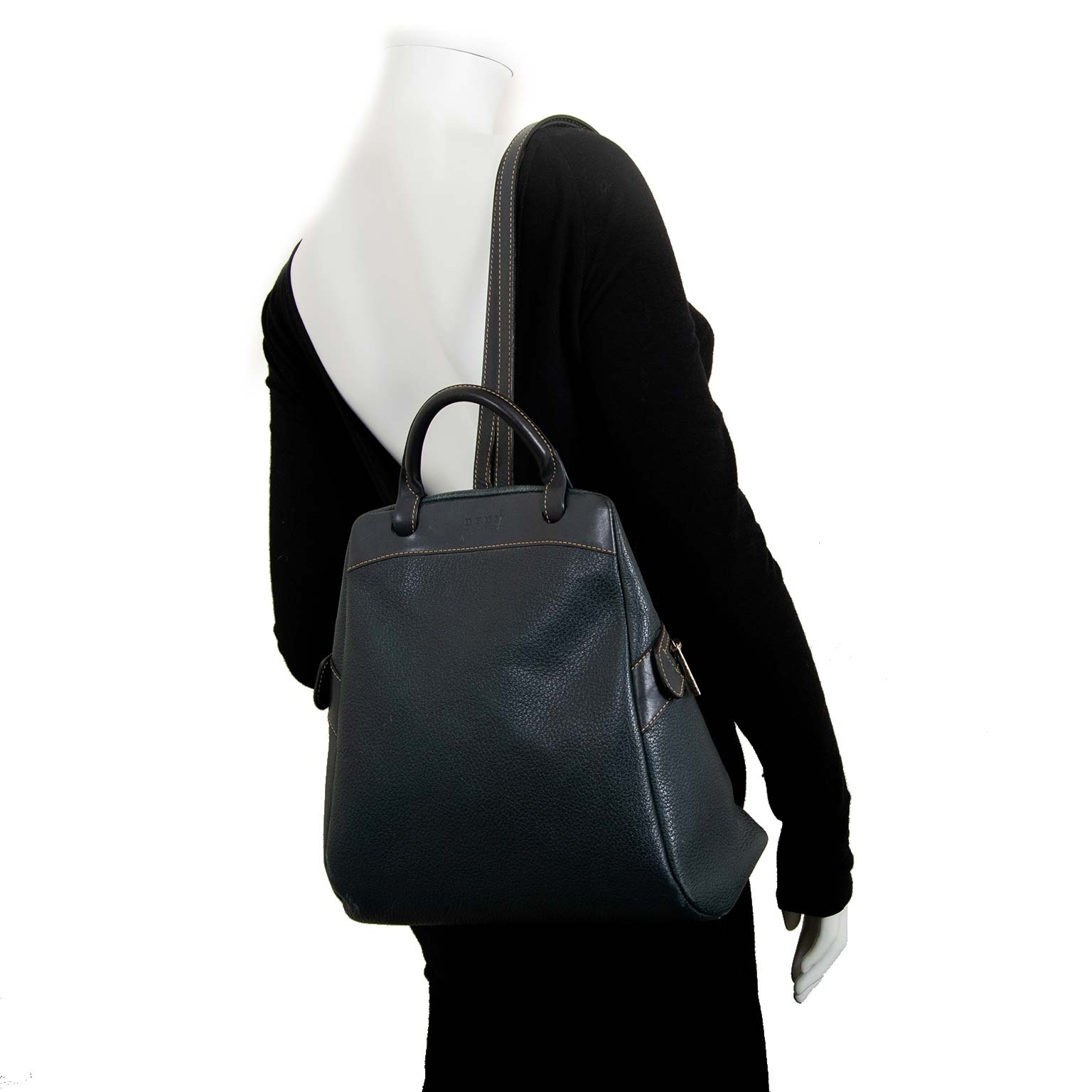 delvaux deux de delvaux donker blauw lederen rugzak nu te koop bij labellov vintage mode webshop belgië