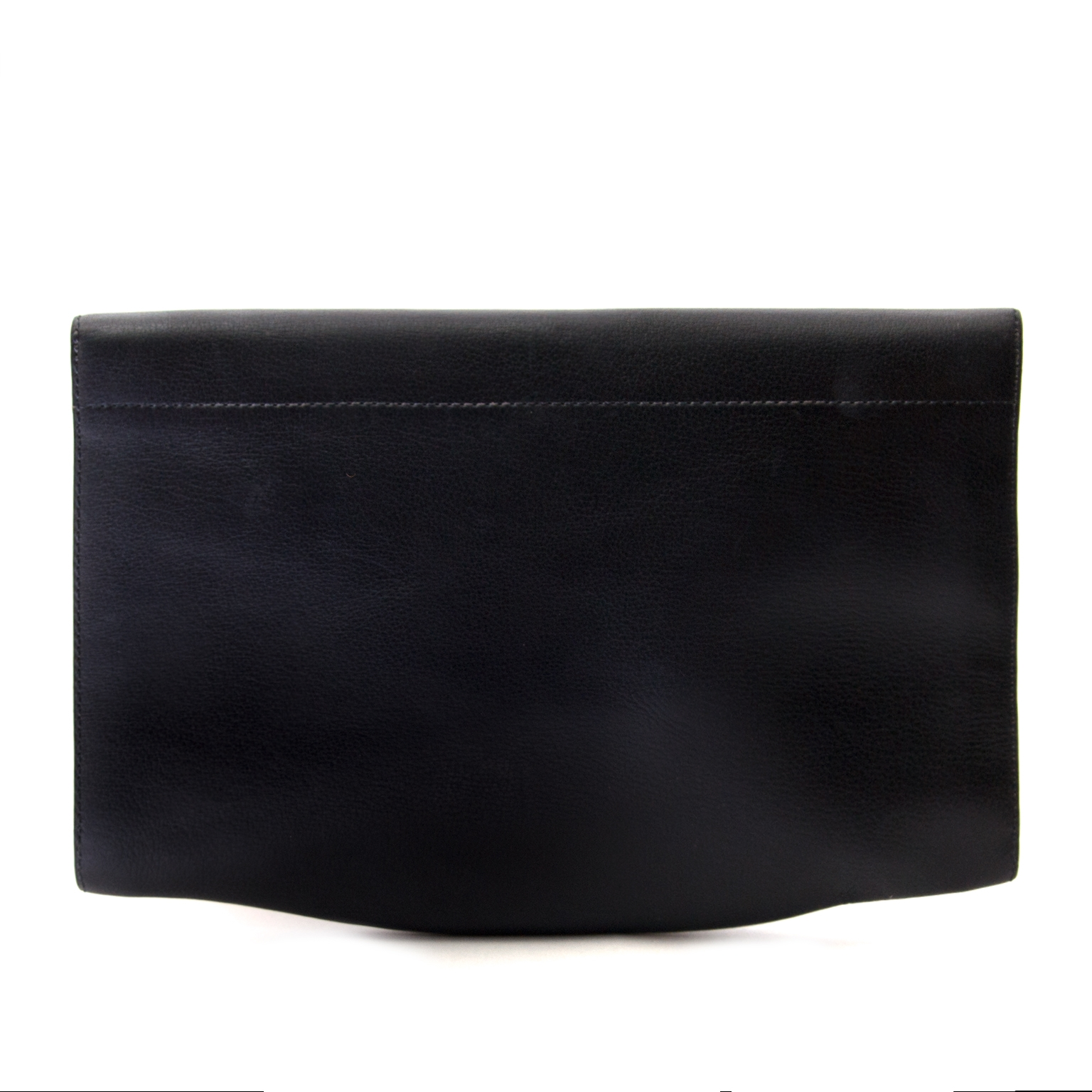 buy  Delvaux Dark Blue Leather Clutch at labellov for the best price