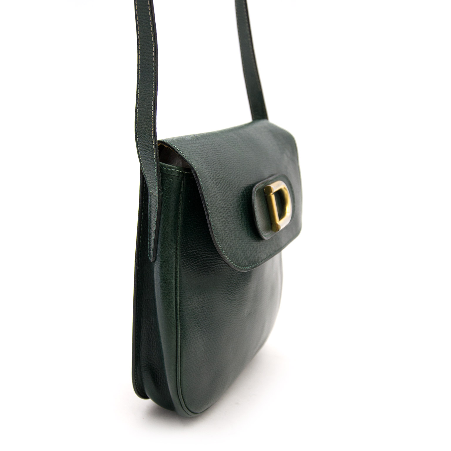 Buy safe and secure online at labellov.com for the bes tprice Delvaux Green Cross Body Bag