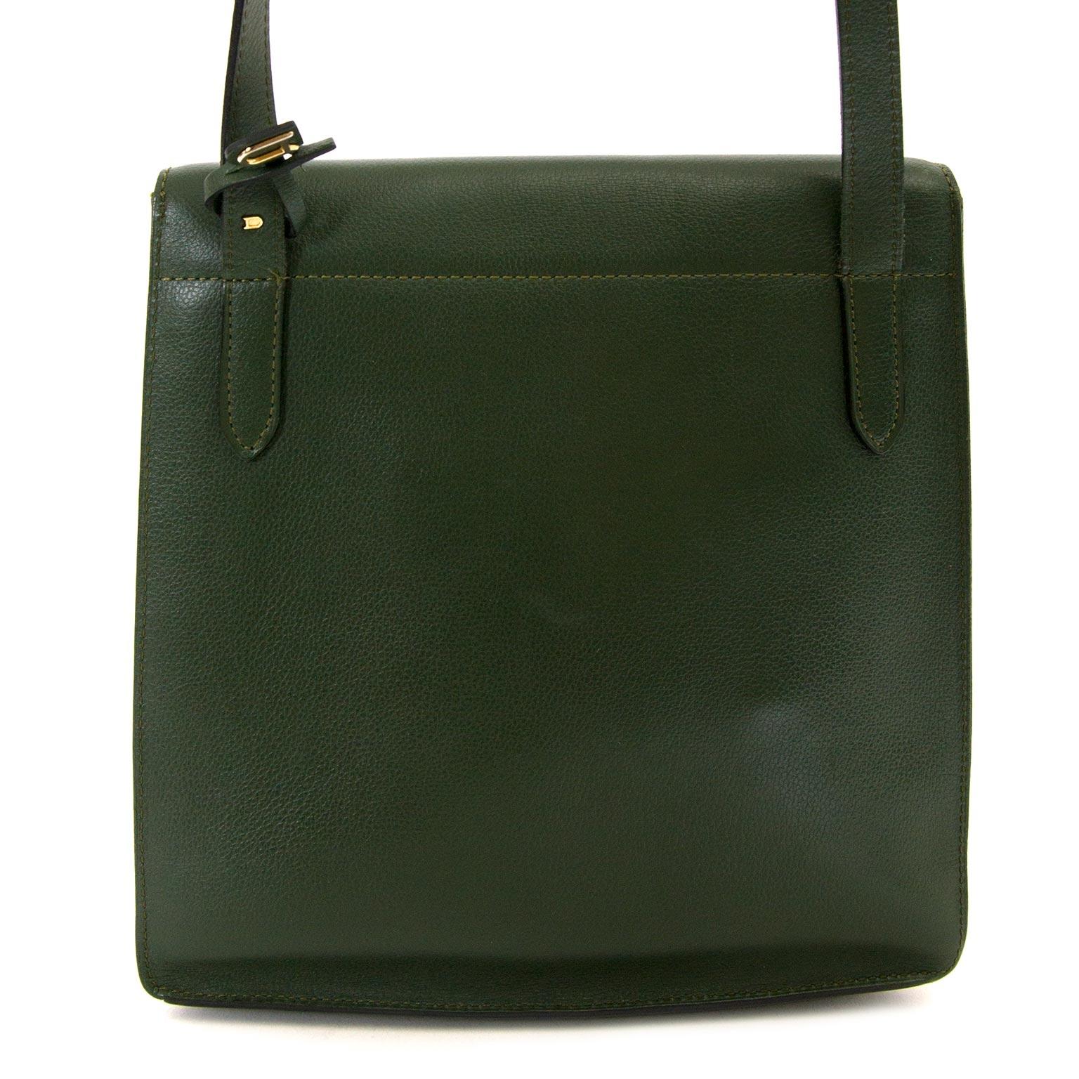 koop Delvaux Green Crossbody Bag en betaal veilig online