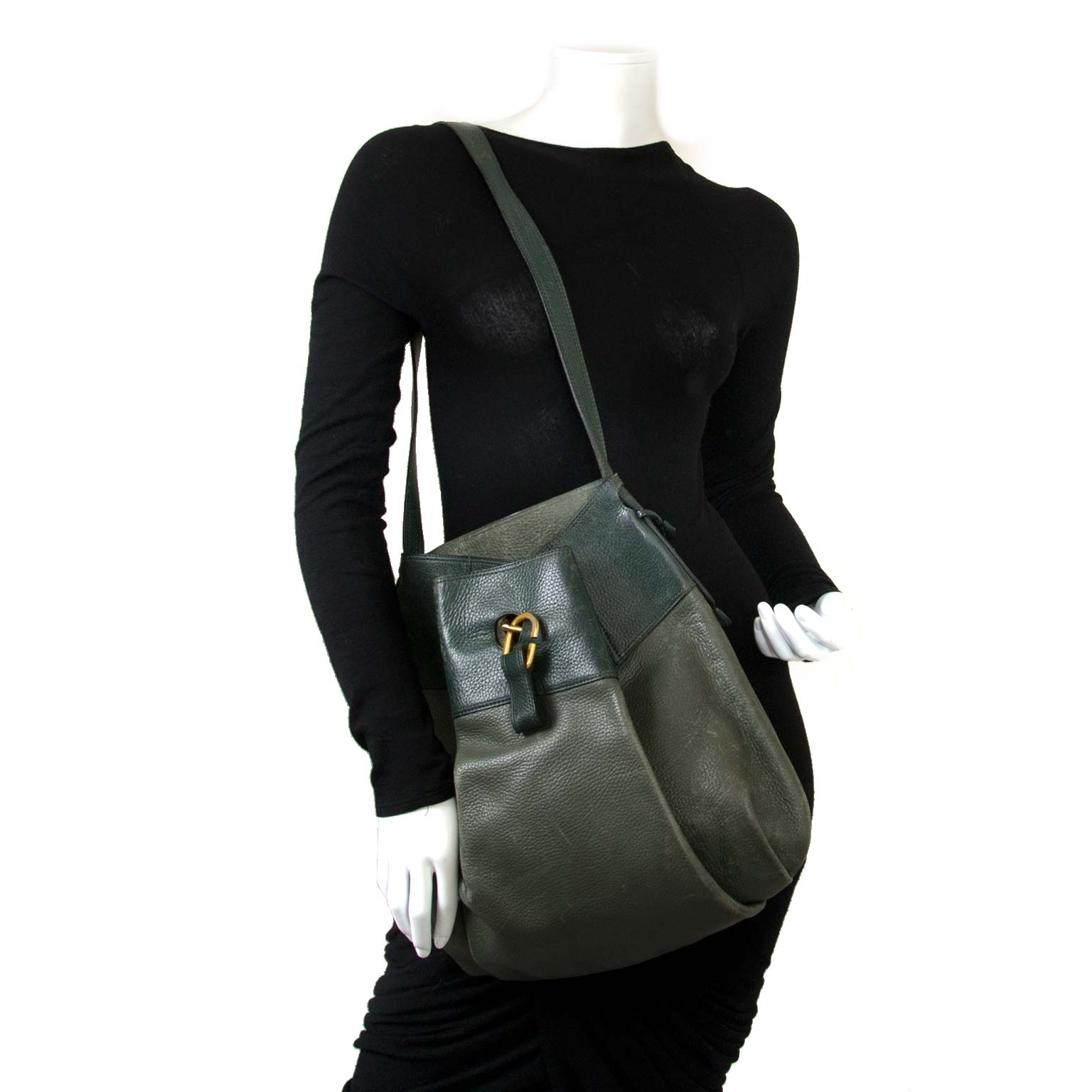 Delvaux Green Faust Bag now for sale at labellov vintage fashion webshop belgium