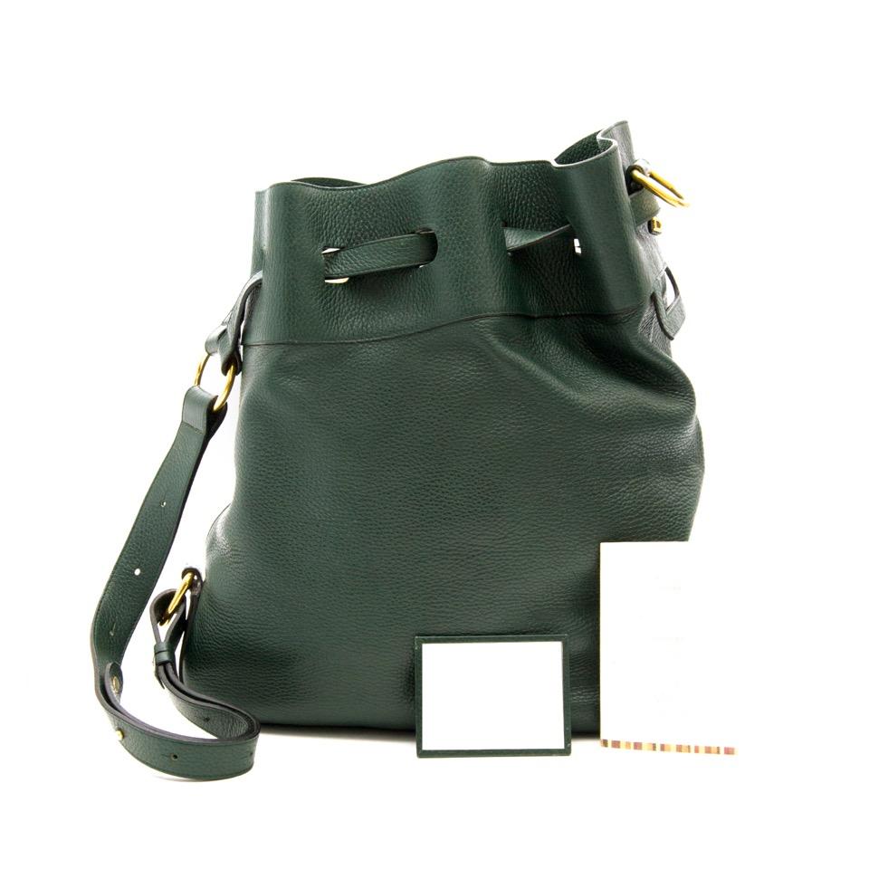 Delvaux Dark Green Catogan Trotteur Bag kopen en verkopen, veilig en gemakkelijk online