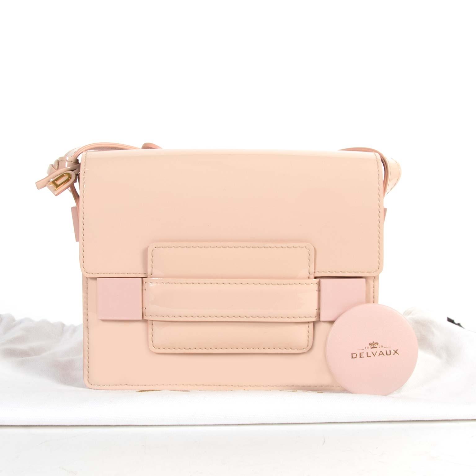 Delvaux Madame Mini Patent Pink