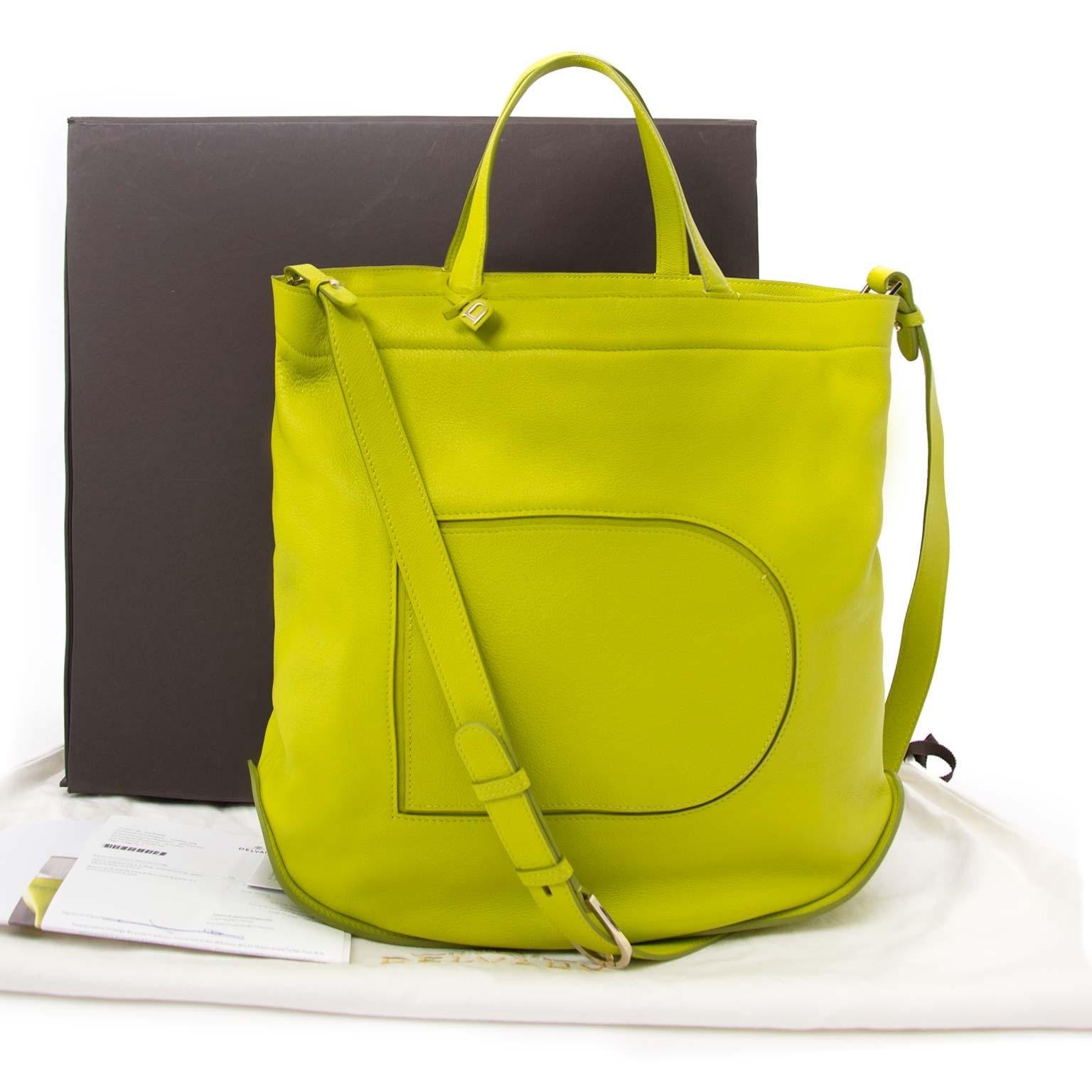 koop online tegen de beste prijs Delvaux Le Pin Cabas Allure Absinthe Shoulder Bag
