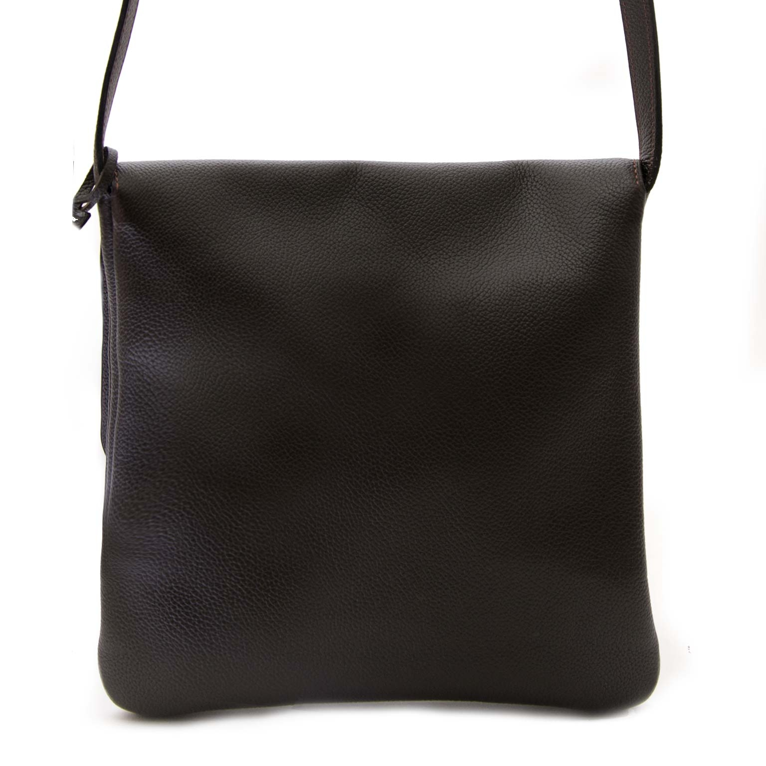 authentic Delvaux Brown Leather