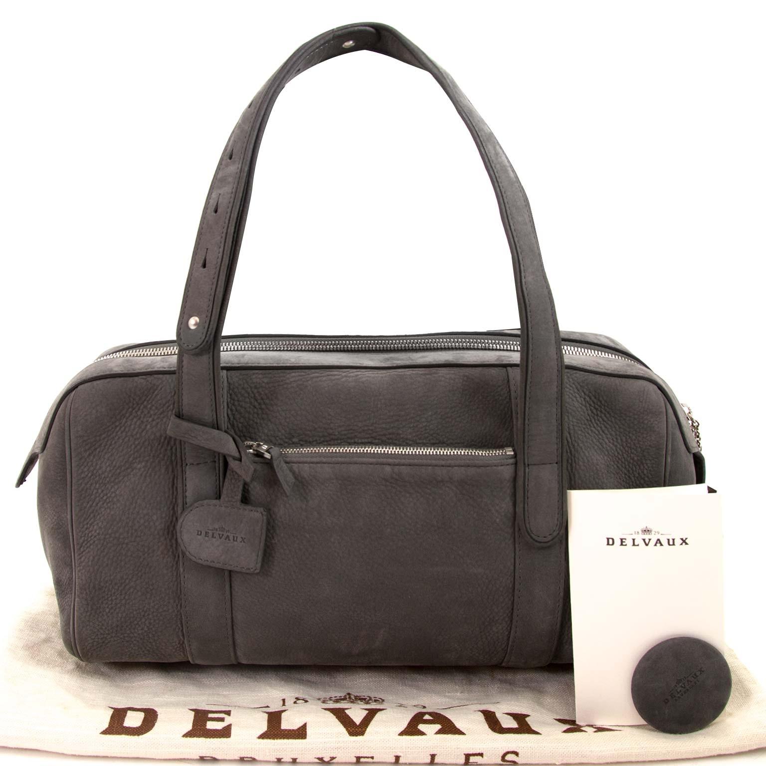 8d74545bdc5 ... delvaux loft santiag grey nubuck shoulder bag now for sale at labellov  vintage fashion webshop belgium