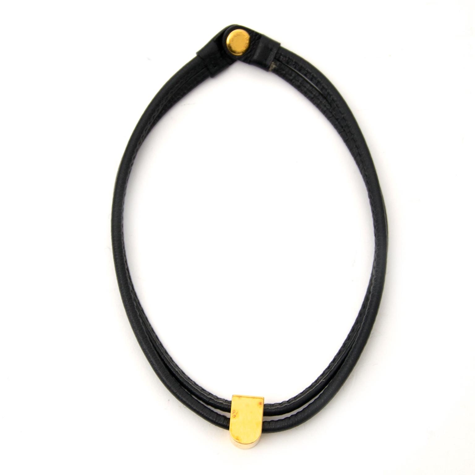 Delvaux Black D Necklace shop safe online secondhand
