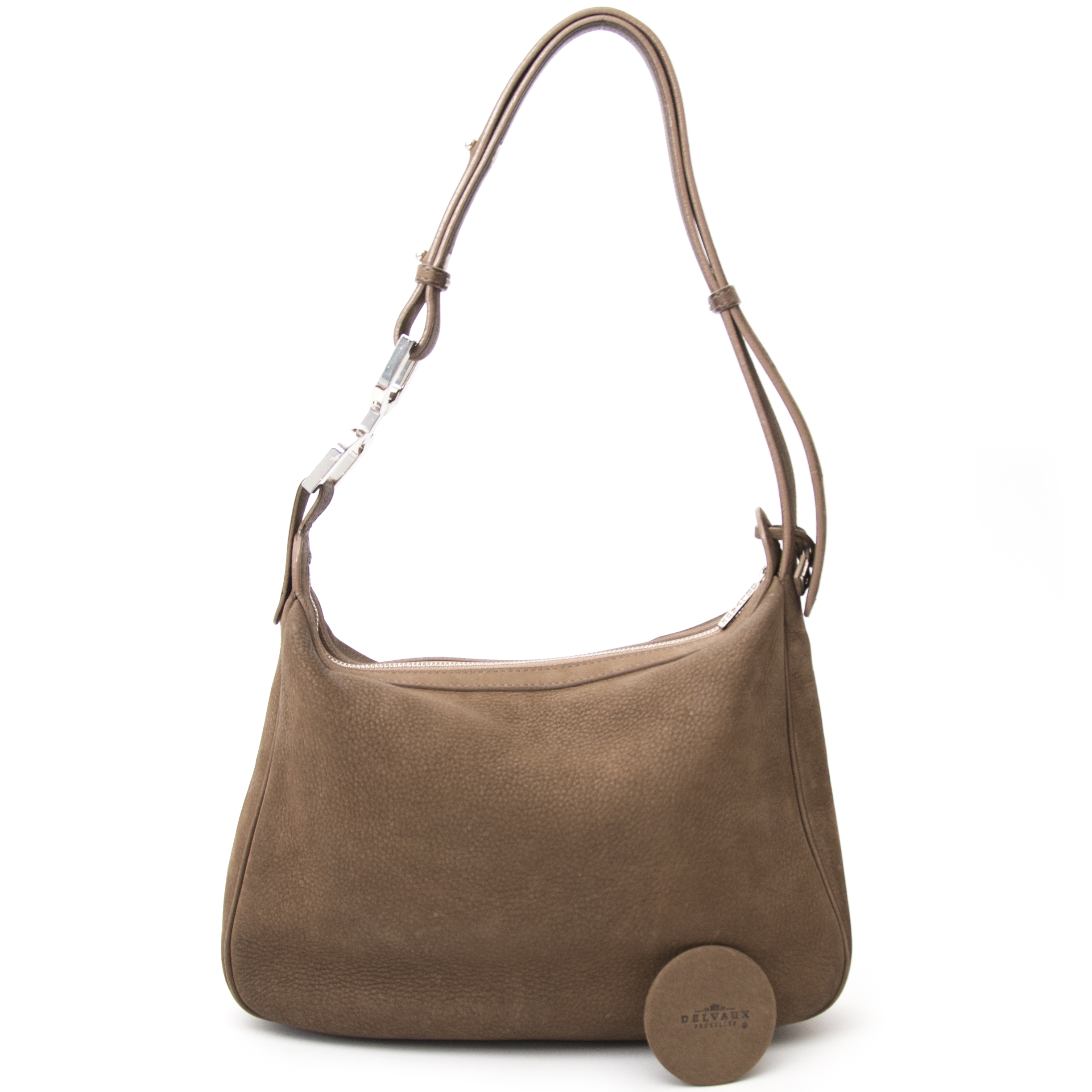 Are you looking for an authentic Delvaux Taupe Brown Nubbuck Shoulder Bag ?