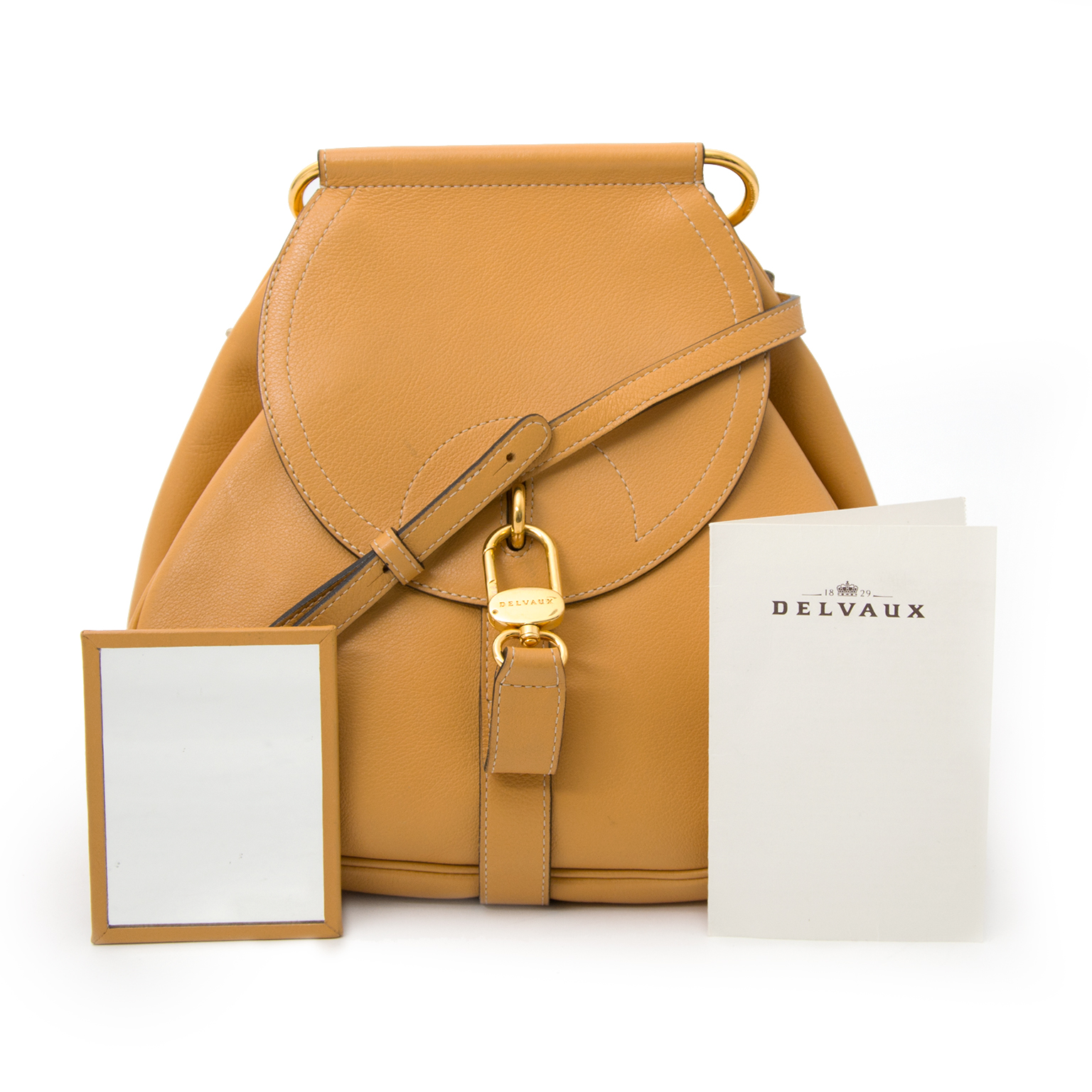 delvaux pm ocher cerceau crossbody bag now online at labellov.com for the best price.