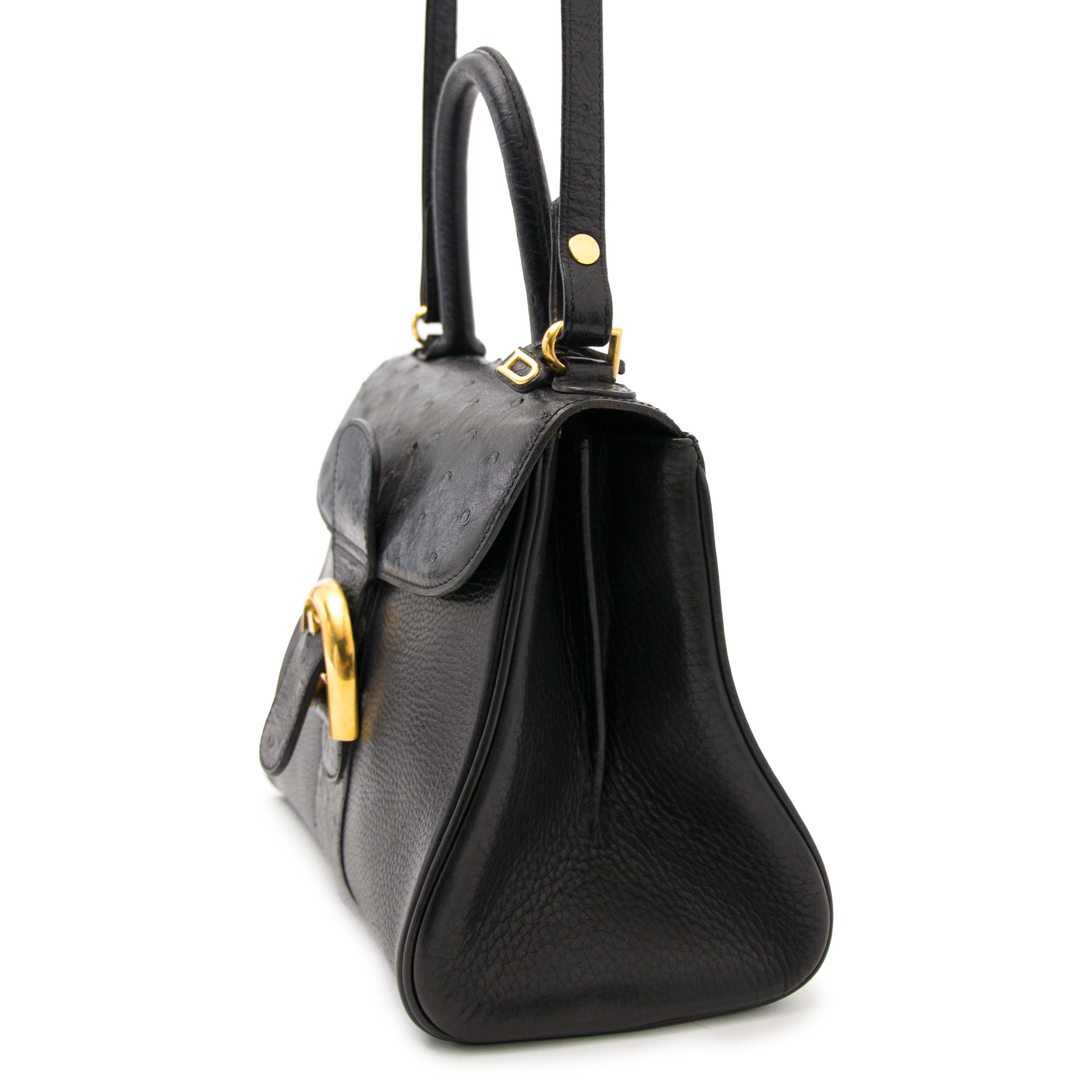 Buy safe and secure online at labellov.com for the best price Delvaux Brillant PM Black Ostrich