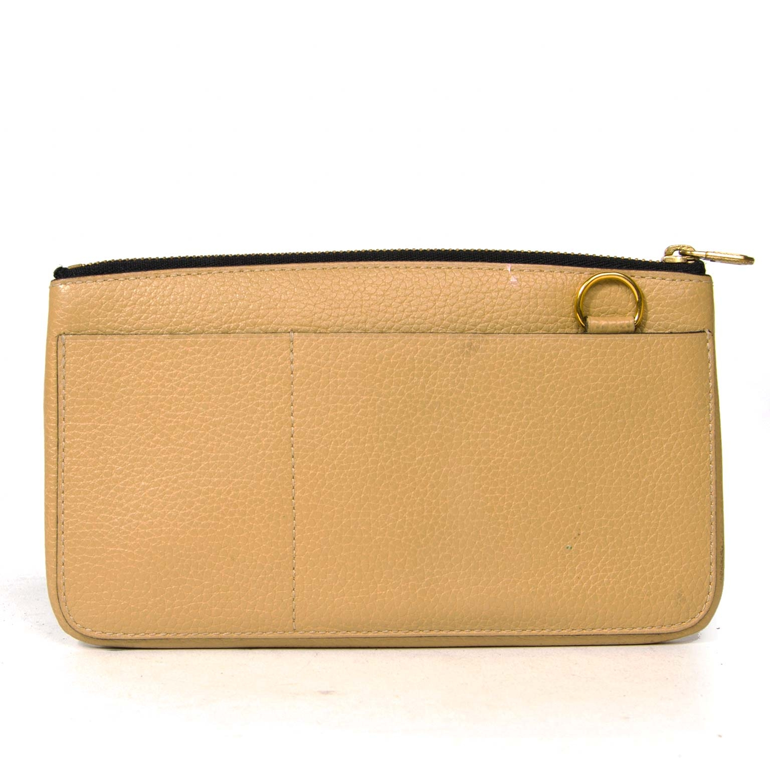 Delvaux beige leather pochette now for sale at labellov vintage fashion webshop belgium