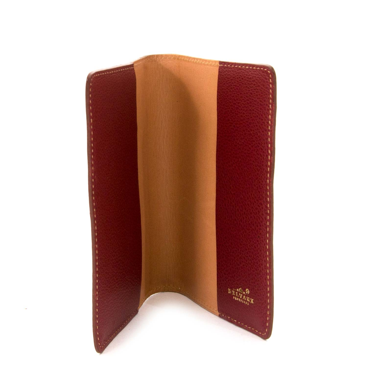 shop safe and secure online at labellov.com Delvaux Red Leather Passport Holder
