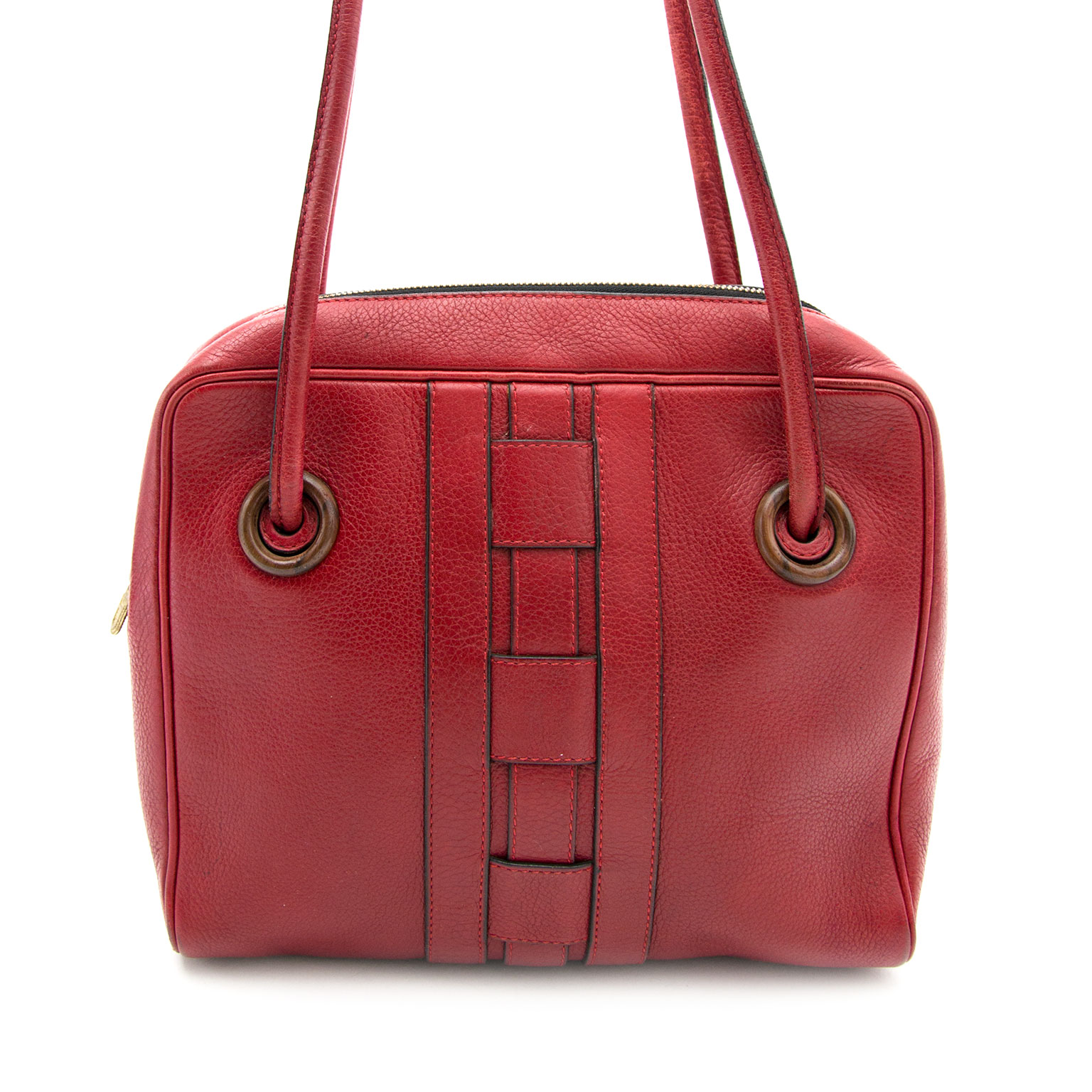 delvaux red shoulder bag now online at labellov.Com for the best price