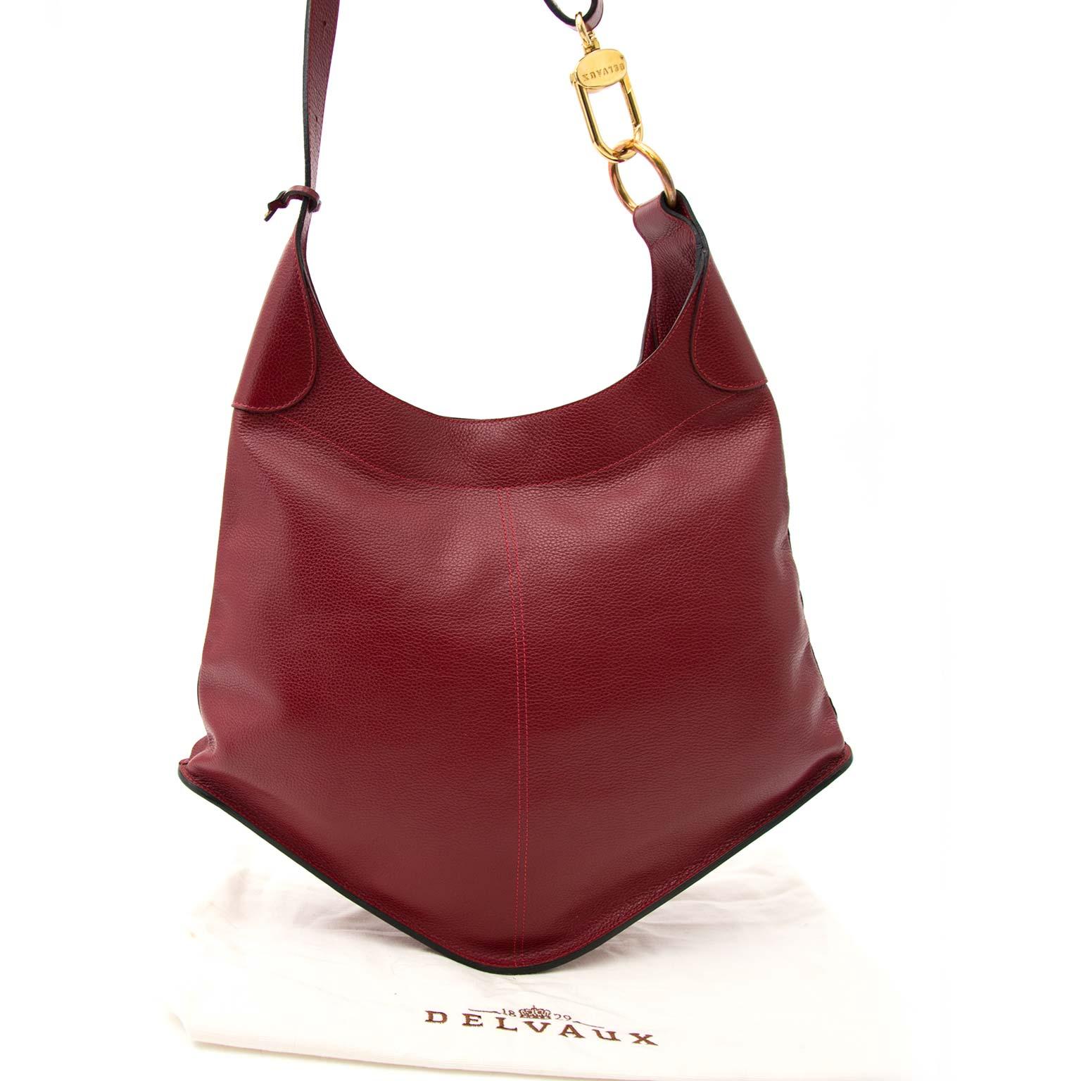 koop veilig online tegen de beste prijs Delvaux Red Satan Shoulder Bag