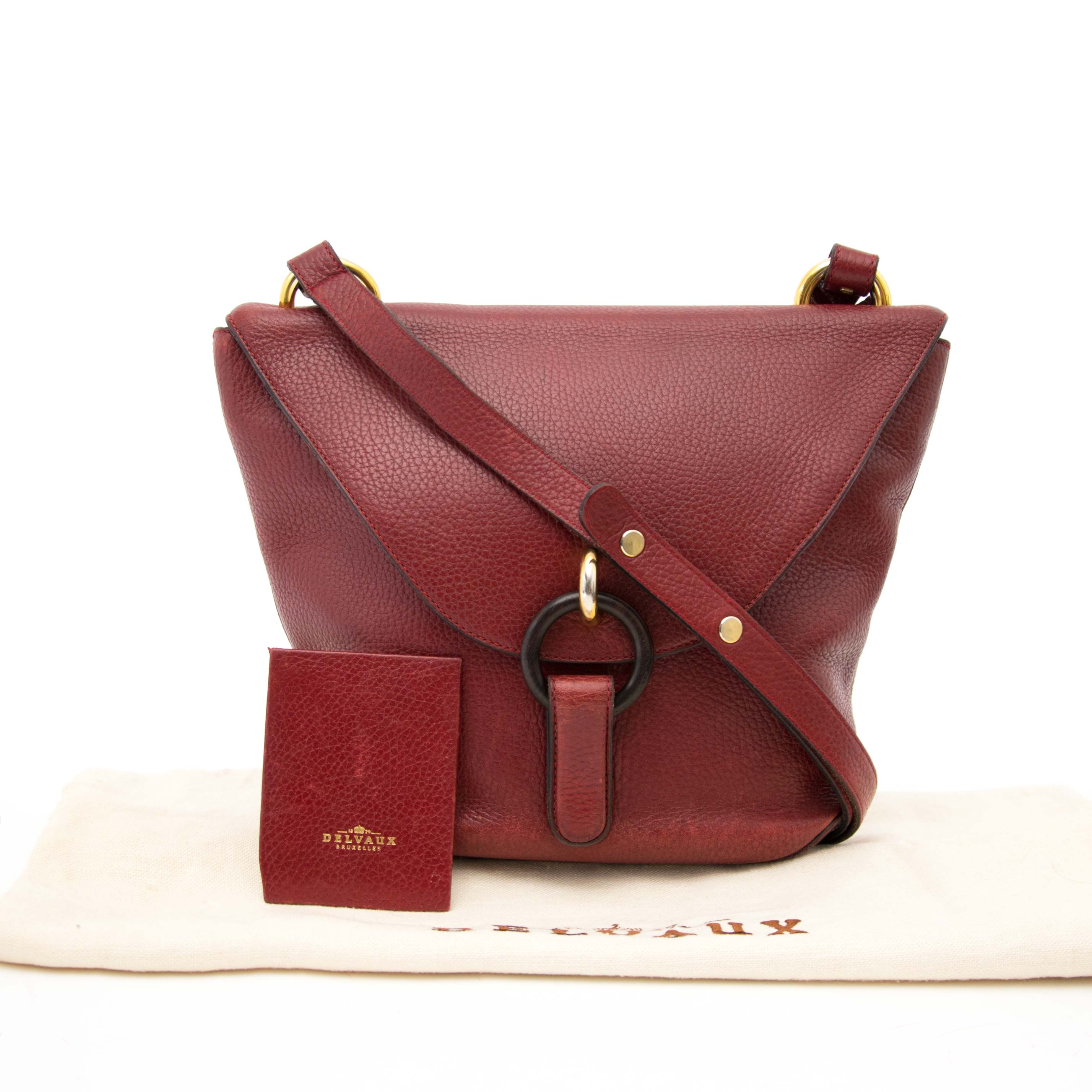 Are you looking for an Delvaux Dark Red Shoulder Bag