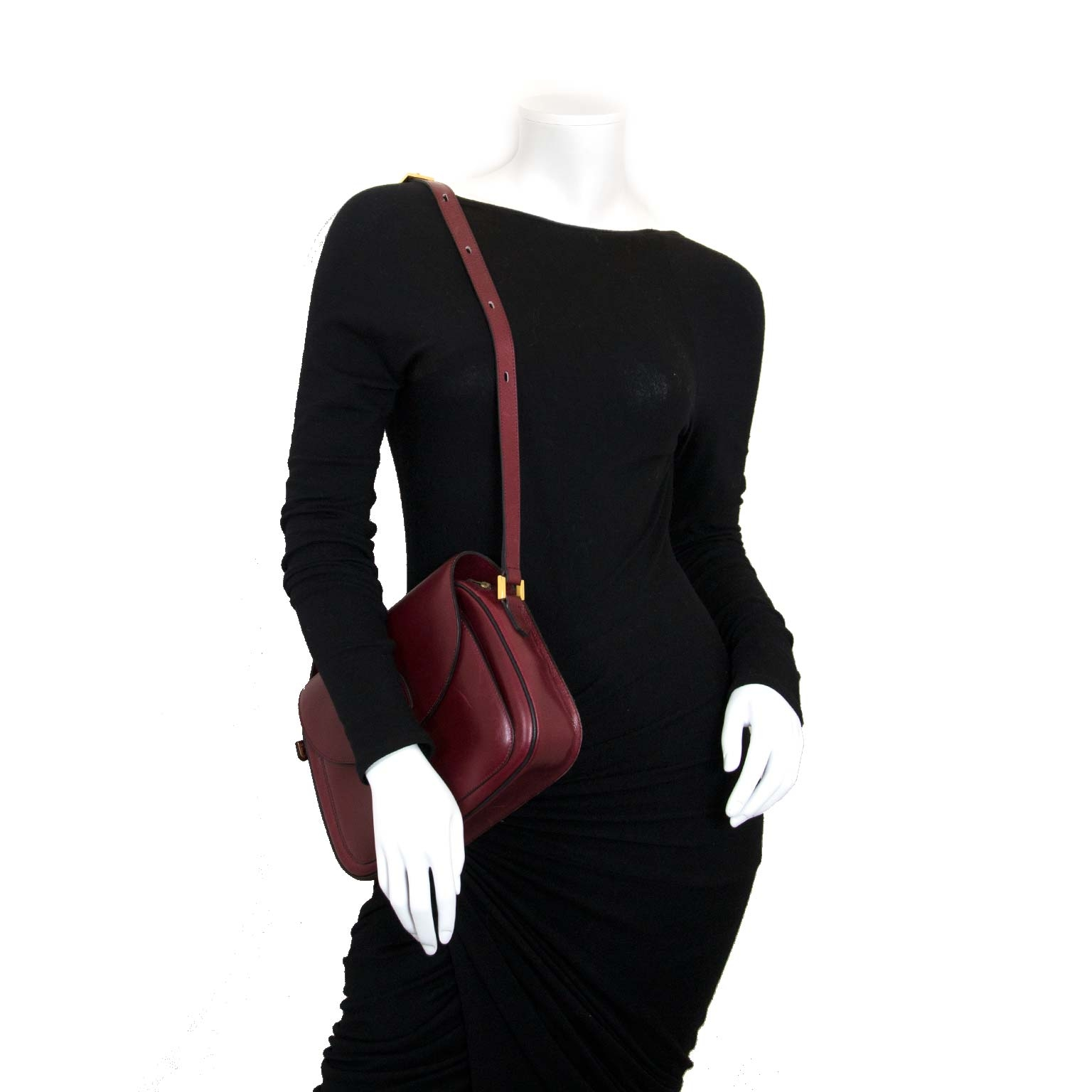 second hand delvaux Delvaux Red Leather Shoulder Bag for sale at labellov antwerp for the best price