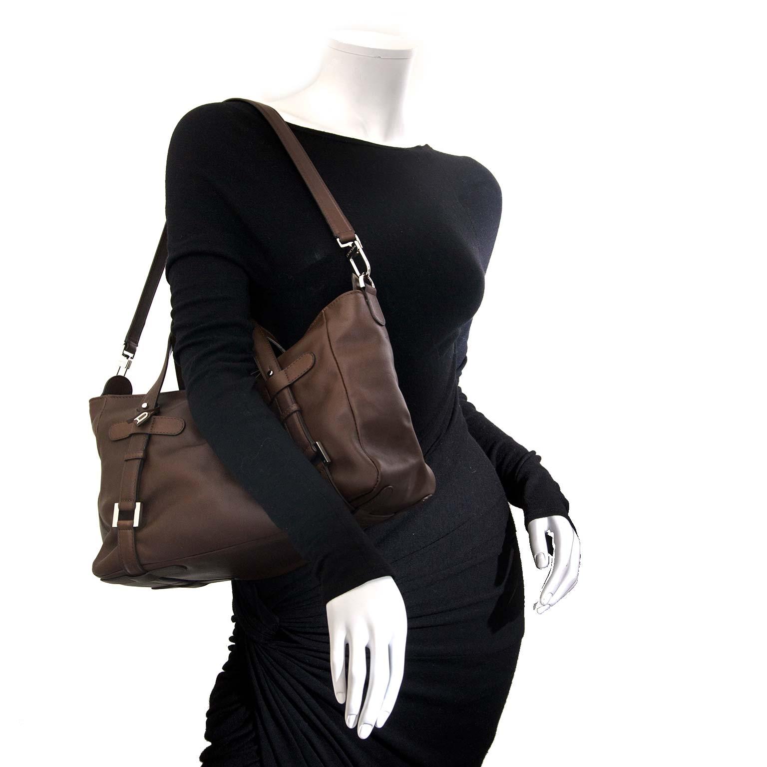Delvaux Brown Saint Germain Bag now for sale at labellov vintage fashion webshop belgium
