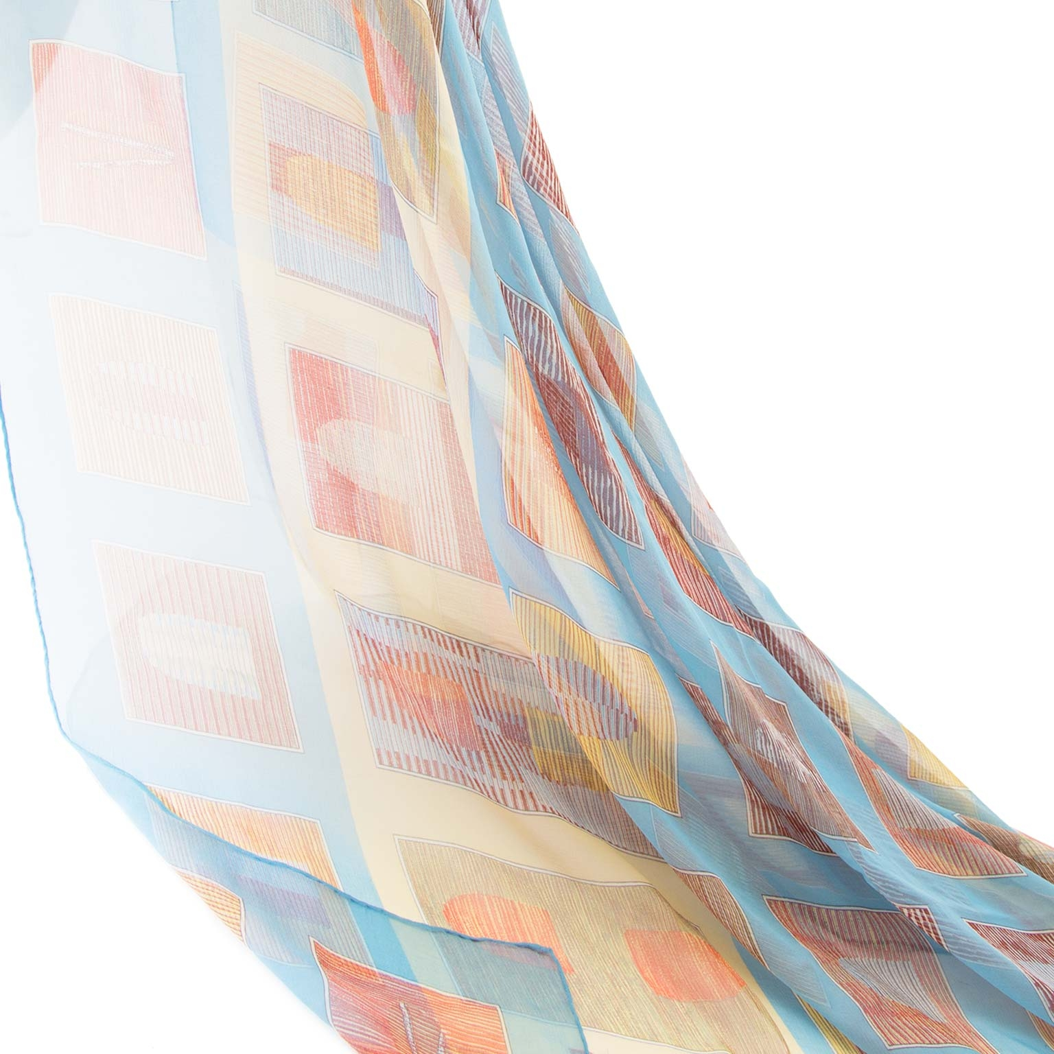 Delvaux mousseline silk squares scarf now for sale at labellov vintage fashion webshop belgium