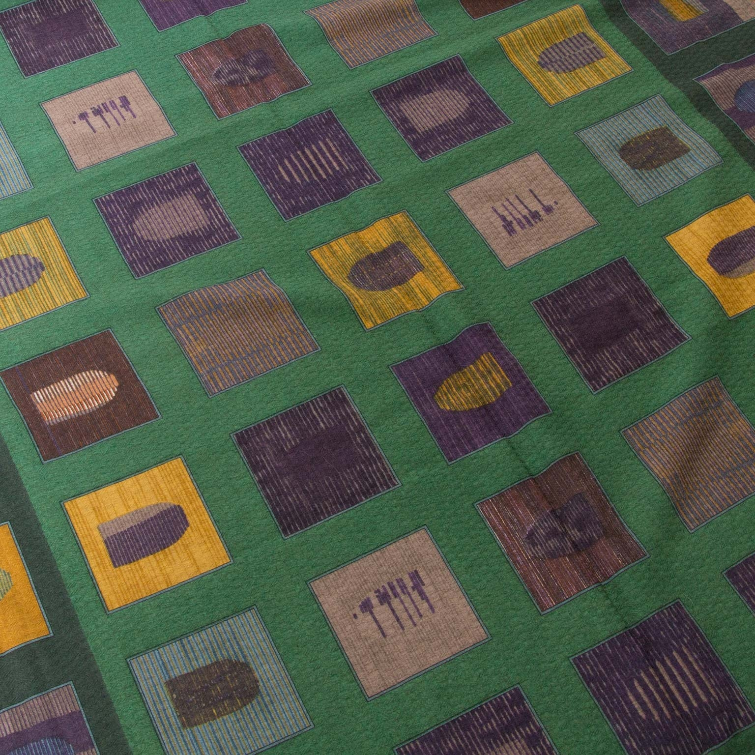 Delvaux Green Cashmere 'D' Scarf now for sale at labellov vintage fashion webshop belgium