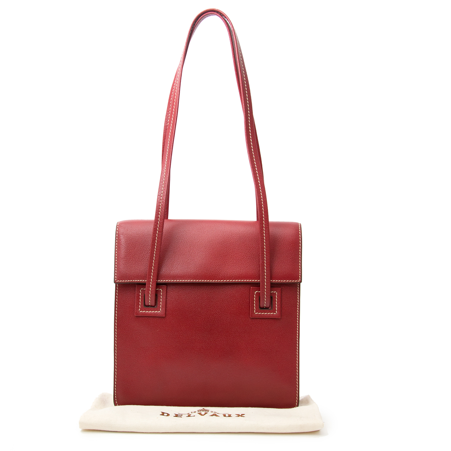 Safe online shopping at Labellov. Delvaux Red Paper Bag