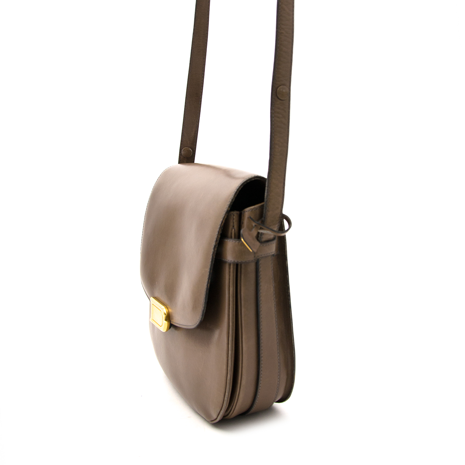 Delvaux Braungraue Schulterhandtasche heute online gegen den besten Preis.