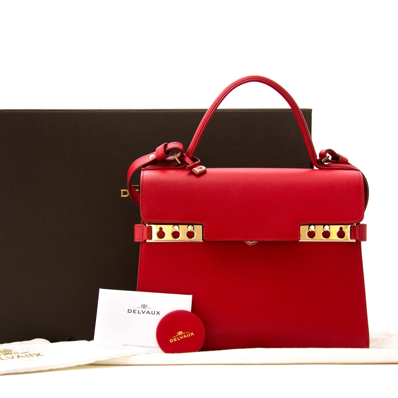 0102da77fadb ... shop safe online your secondhand  As New  Delvaux Tempete MM Rouge  Lipstick