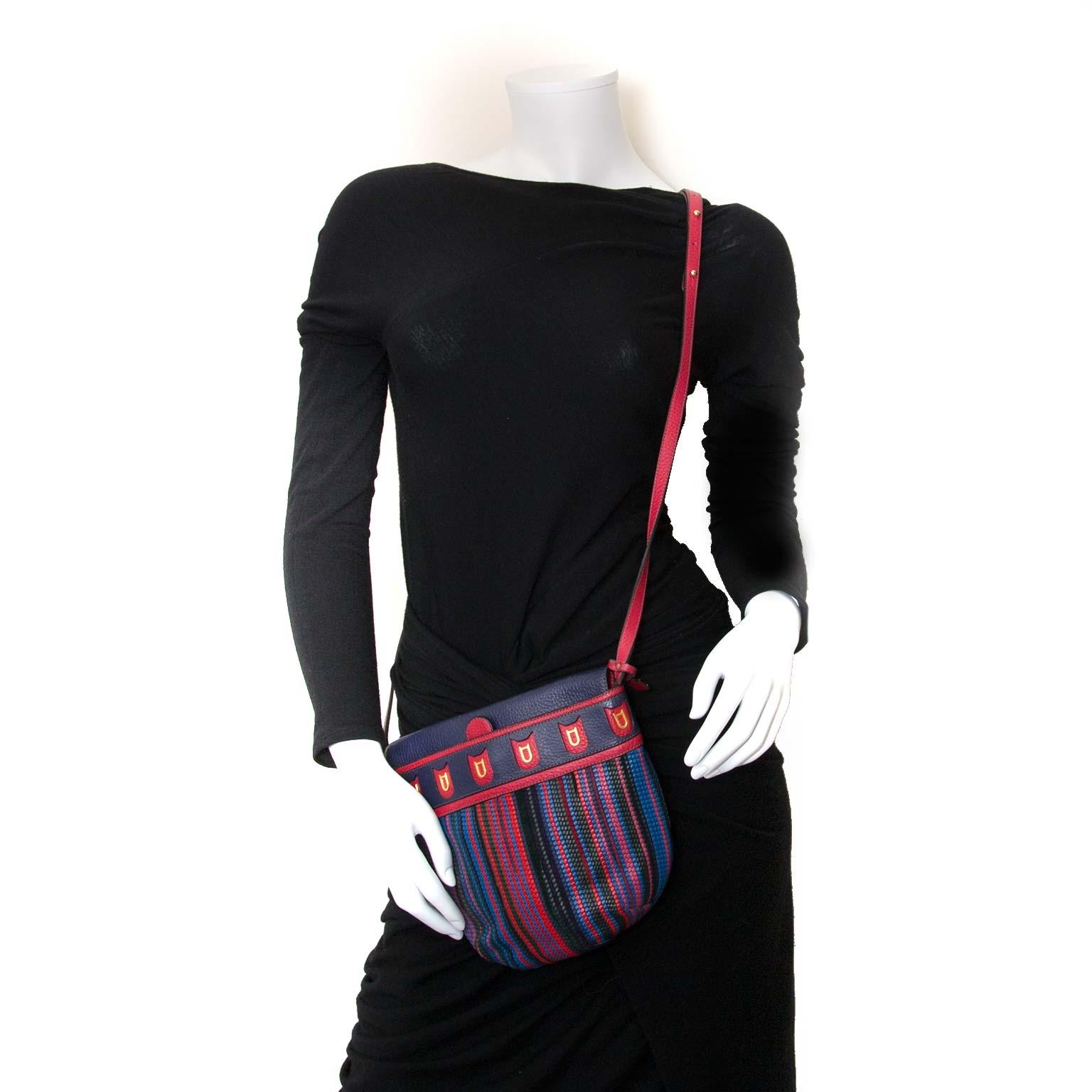 delvaux multicolor toile de cuir crossbody bag now for sale at labellov vintage fashion webshop belgium