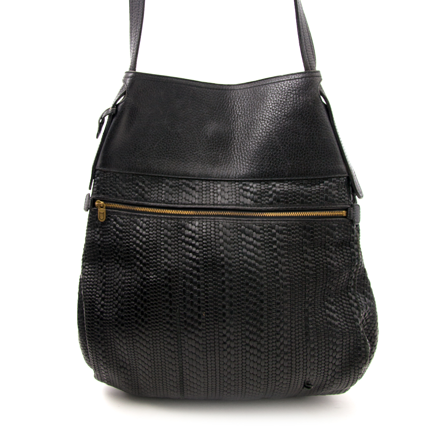 Buy a secondhand Delvaux Black Faust Toile De Cuir Bag at Labellov.com