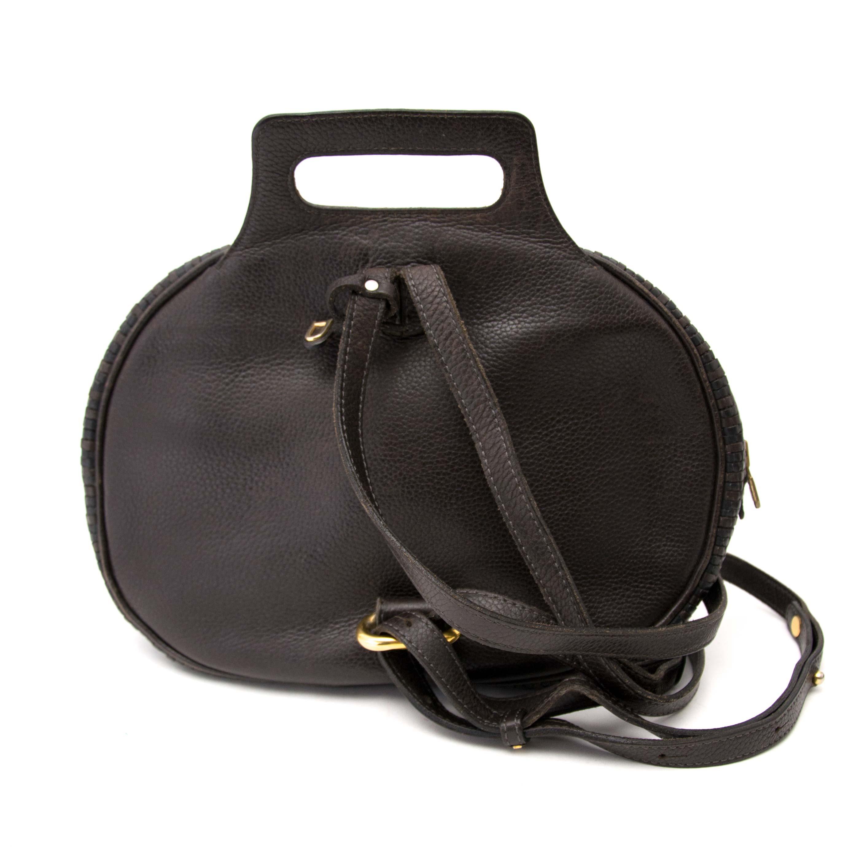 Acheter secur en ligne votre sac a mains Delvaux Toile de Cuir Brown Backpack pour le meilleur prix