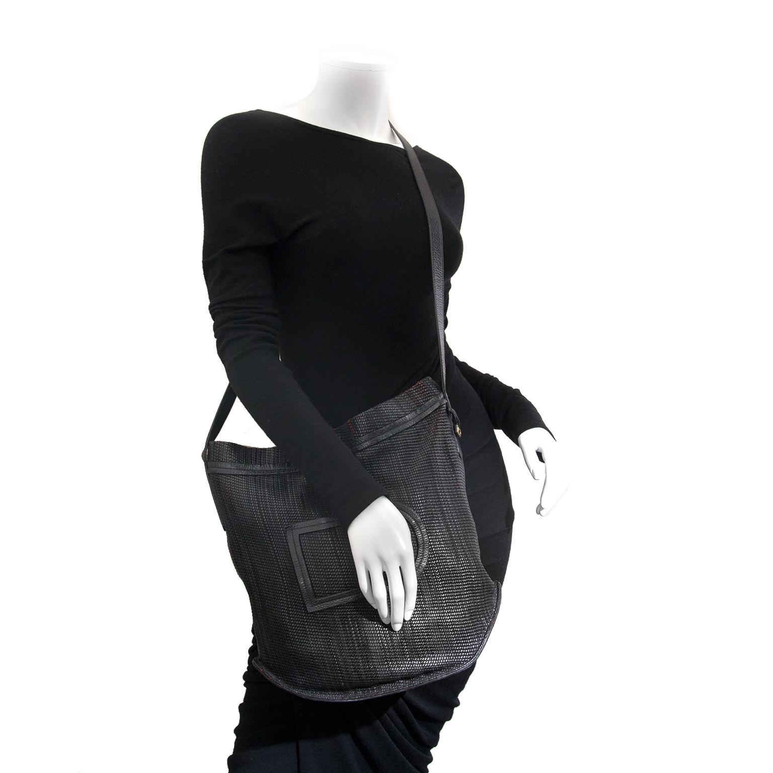 Delvaux Le Pin Toile De Cuir Multicolor Shoulder Bag now for sale at labellov vintage fashion webshop belgium for the lowest price