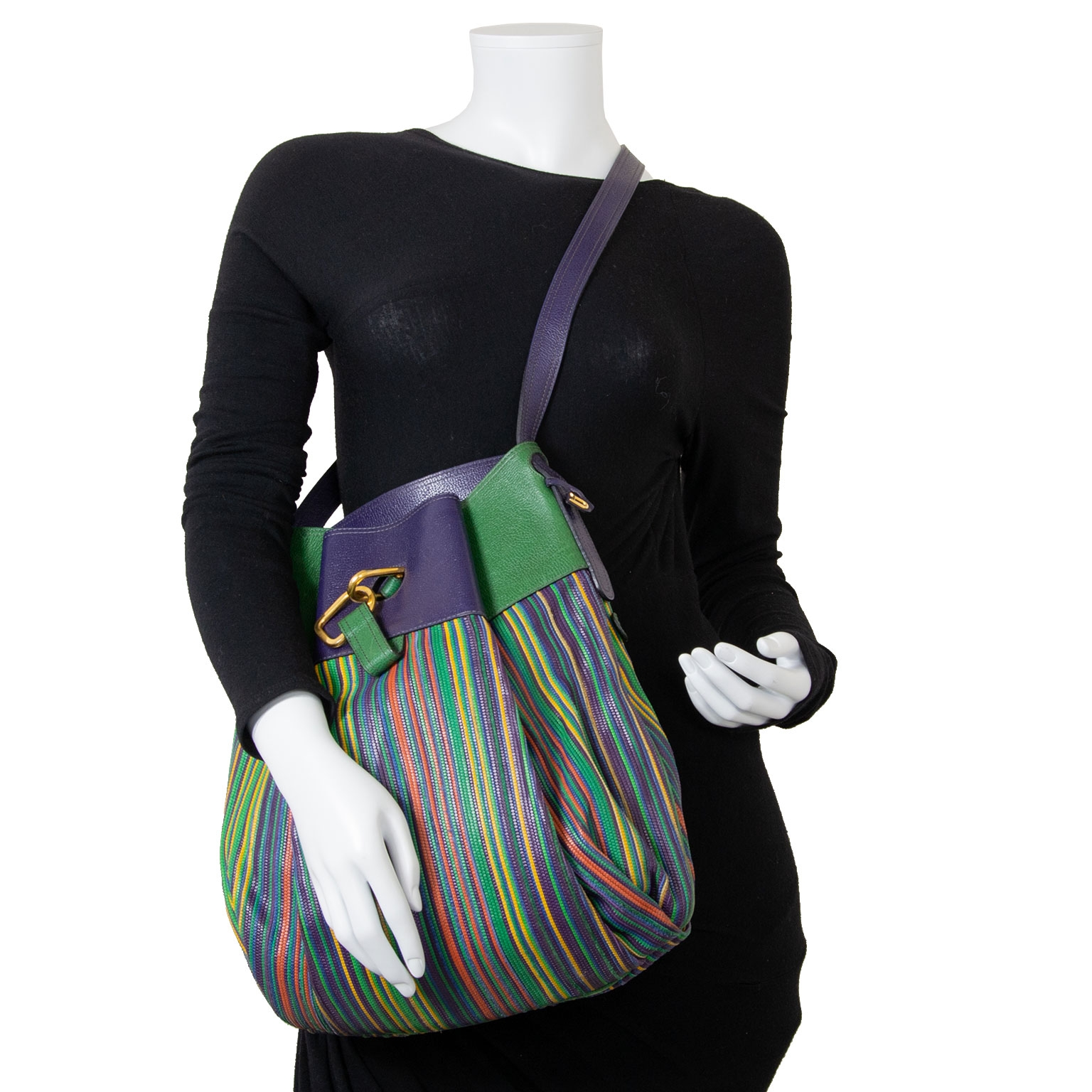 delvaux multicolor toile de cuir faust bag now for sale at labellov vintage fashion webshop belgium