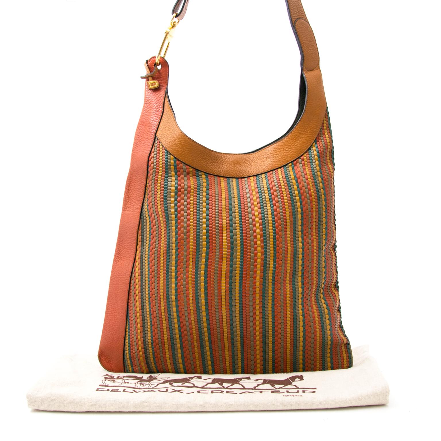 Shop safe online aan de beste prijs Delvaux Jongleur Toile de Cuir Bag