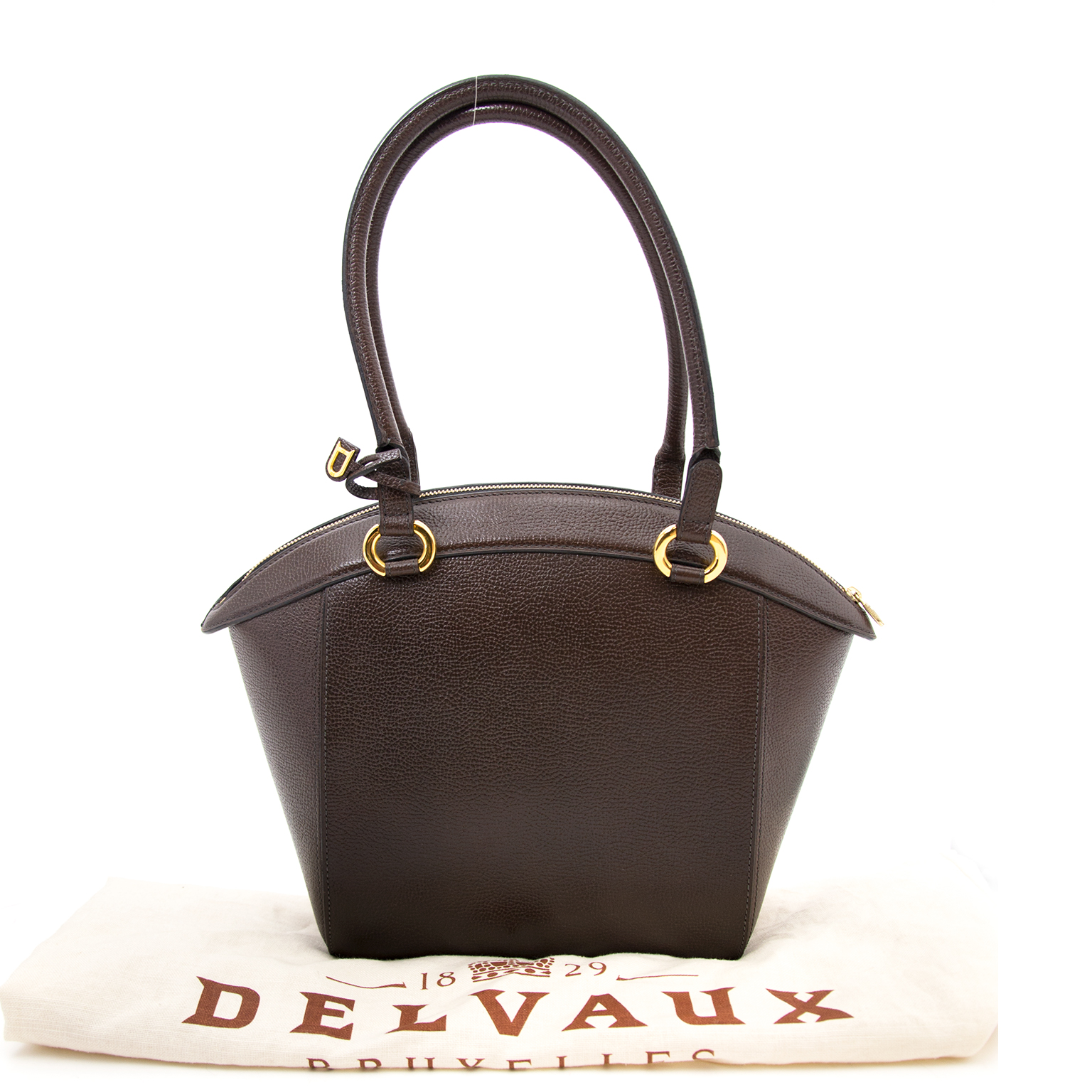 Buy and sell your secondhand Delvaux Brown Pebbled Leather Bag for the best price.