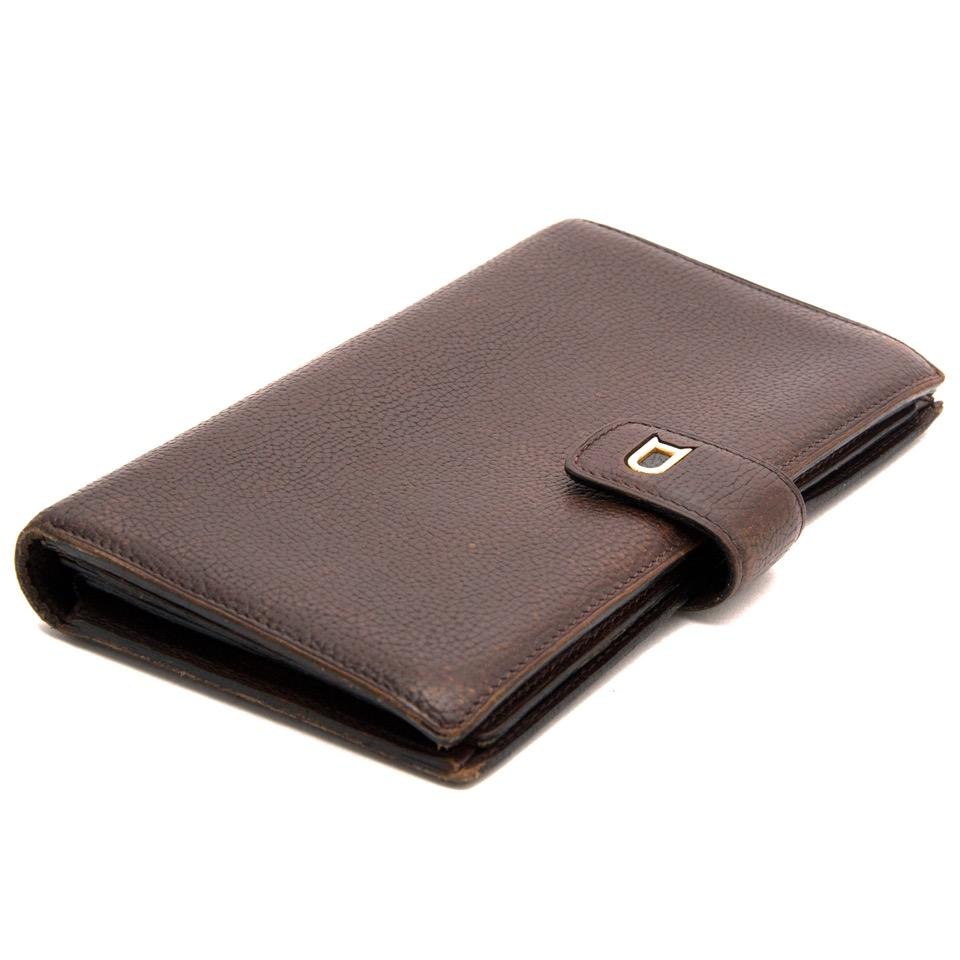Achetez-vous de portefeuille Delvaux en cuir marron