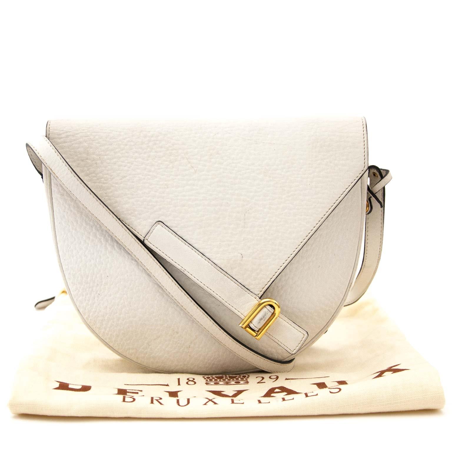 koop online tegen de beste prijs jou tweedehands Delvaux White Crossbody Bag