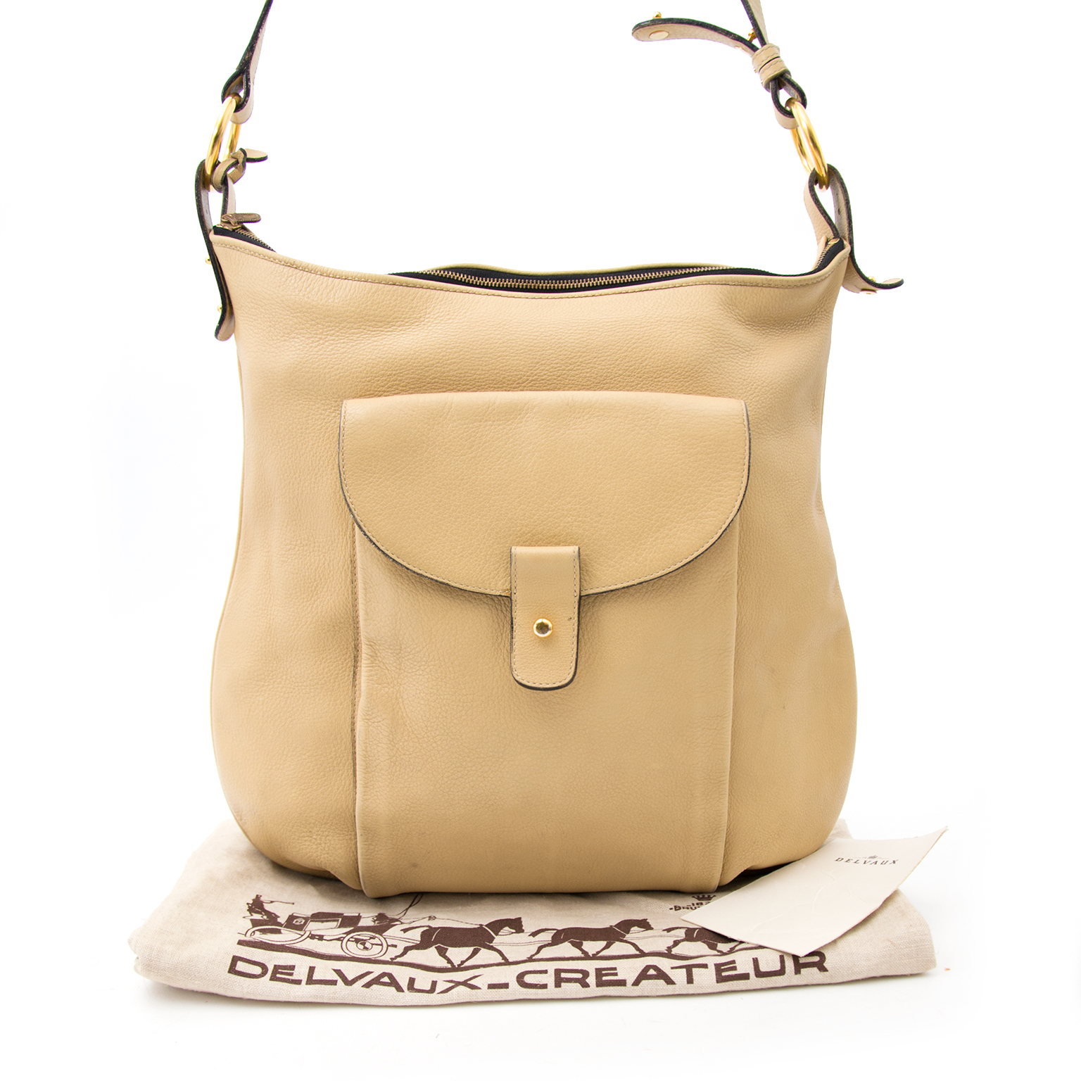 Shop safe and secure at Labellov.com Delvaux Beige Tote Bag