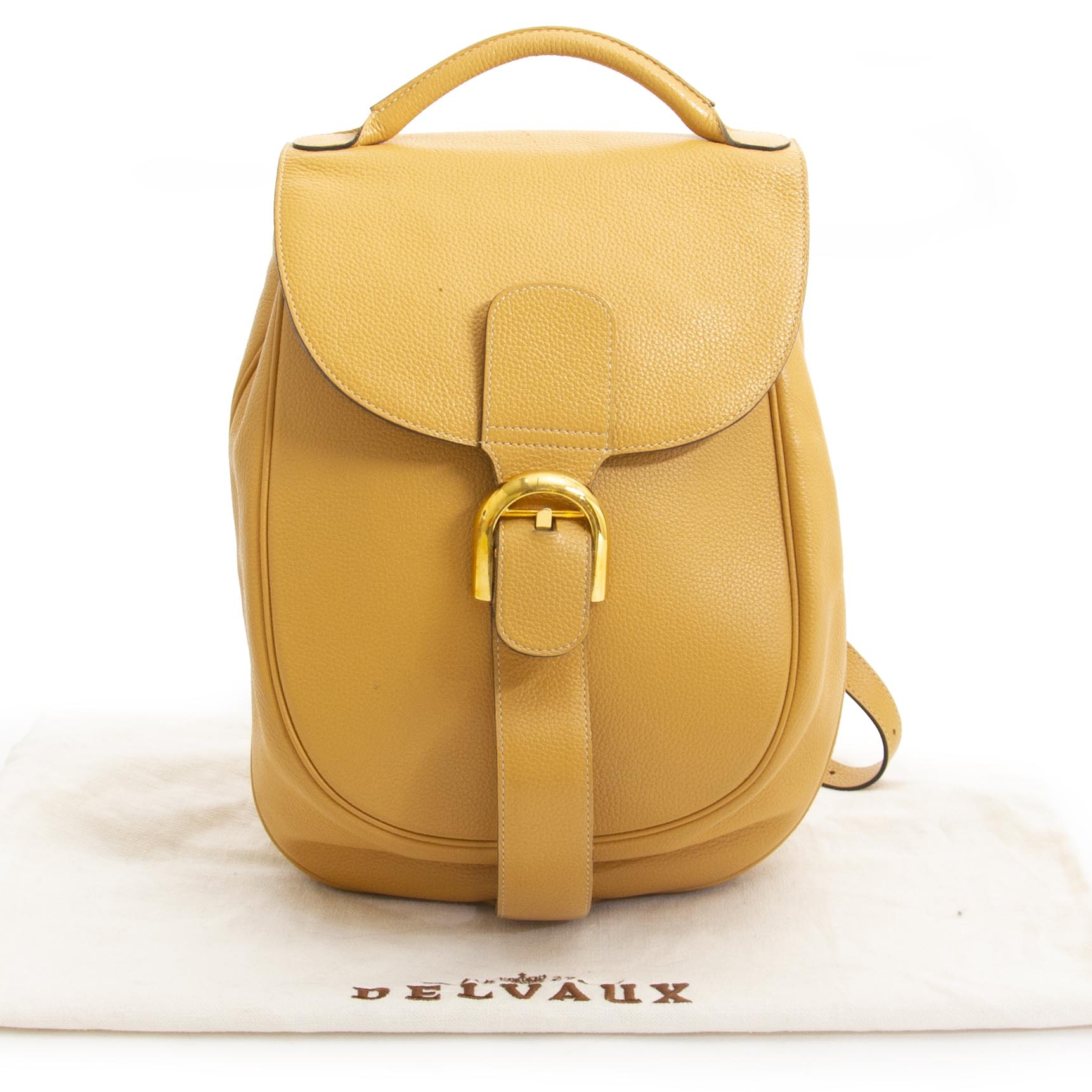 acheter en ligne seconde main Delvaux Yellow Brillant Backpack