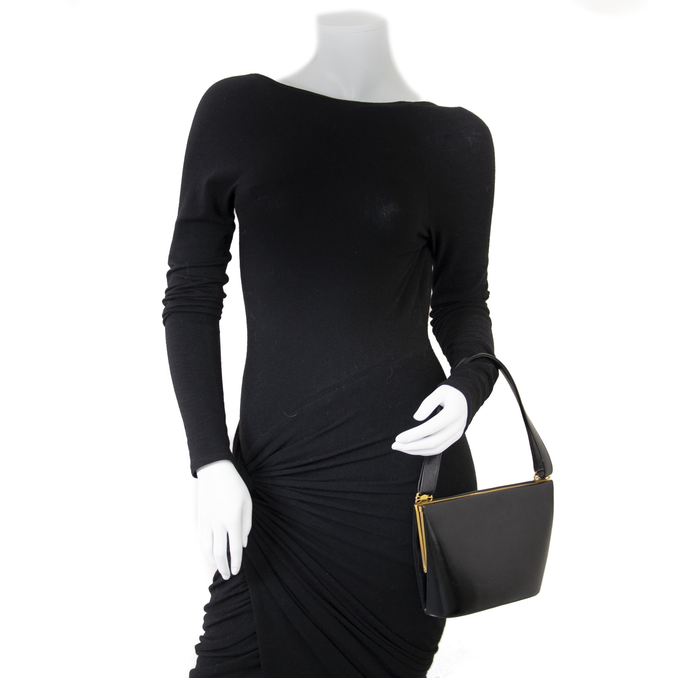 9a74a056331c ... Delvaux Black Boxcalf Evening Bag now for sale at labellov vintage  fashion webshop belgium