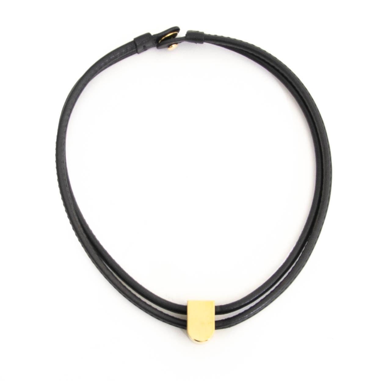 Delvaux Black Leather Gold D collier en ligne chez labellov.com pour le meilleur prix