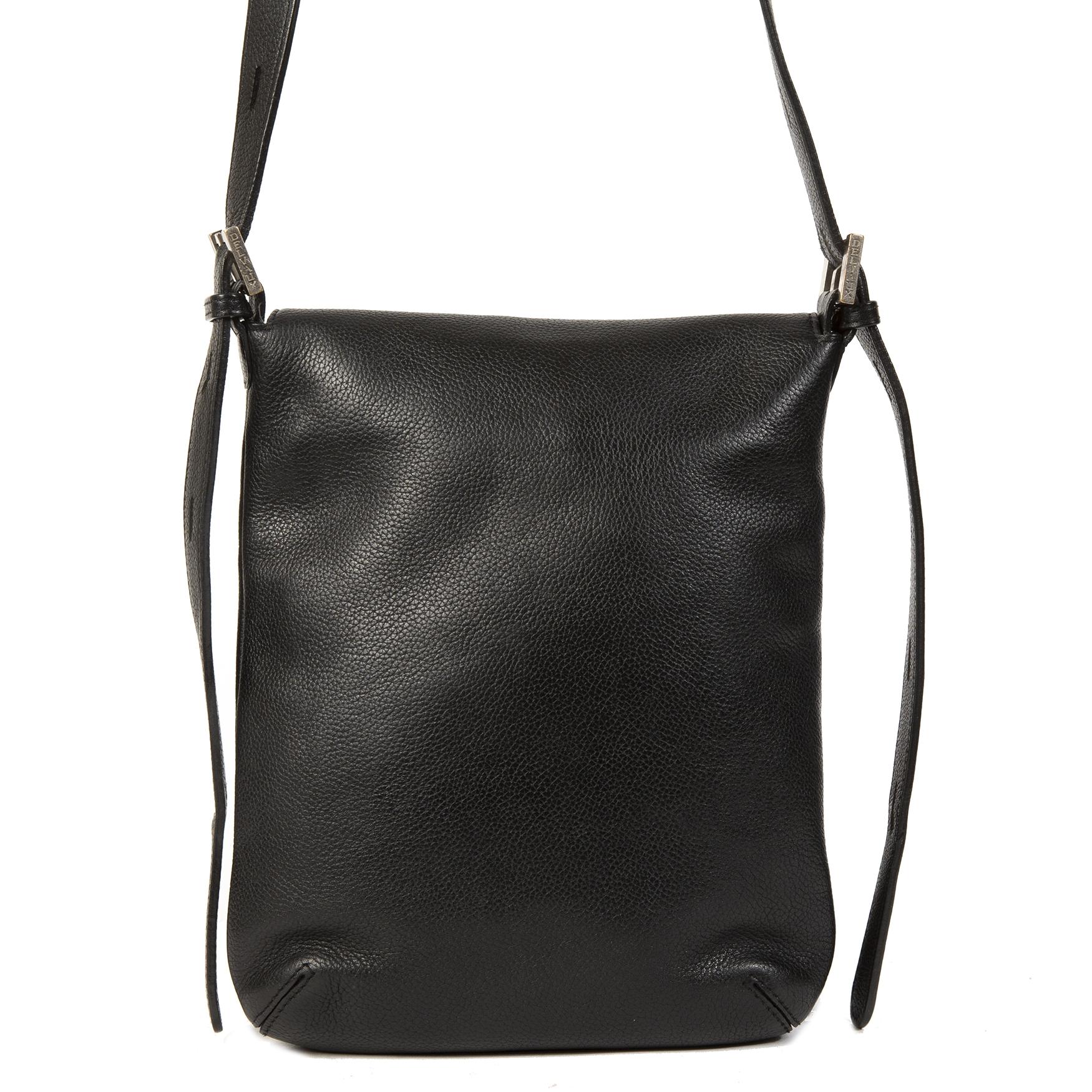 acheter en linge Delvaux Black Louise Baudrier Crossbody Bag