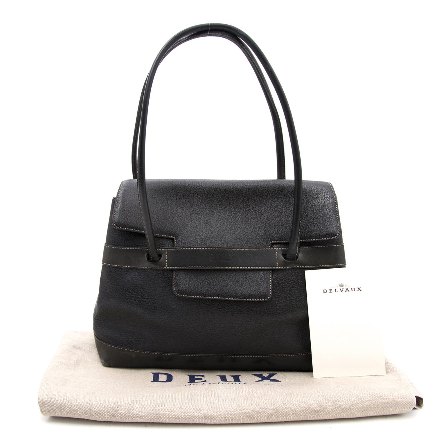 60ba2b6e7d6 ... Buy and sell your designer handbags at labellov.com for the best price  Delvaux Black