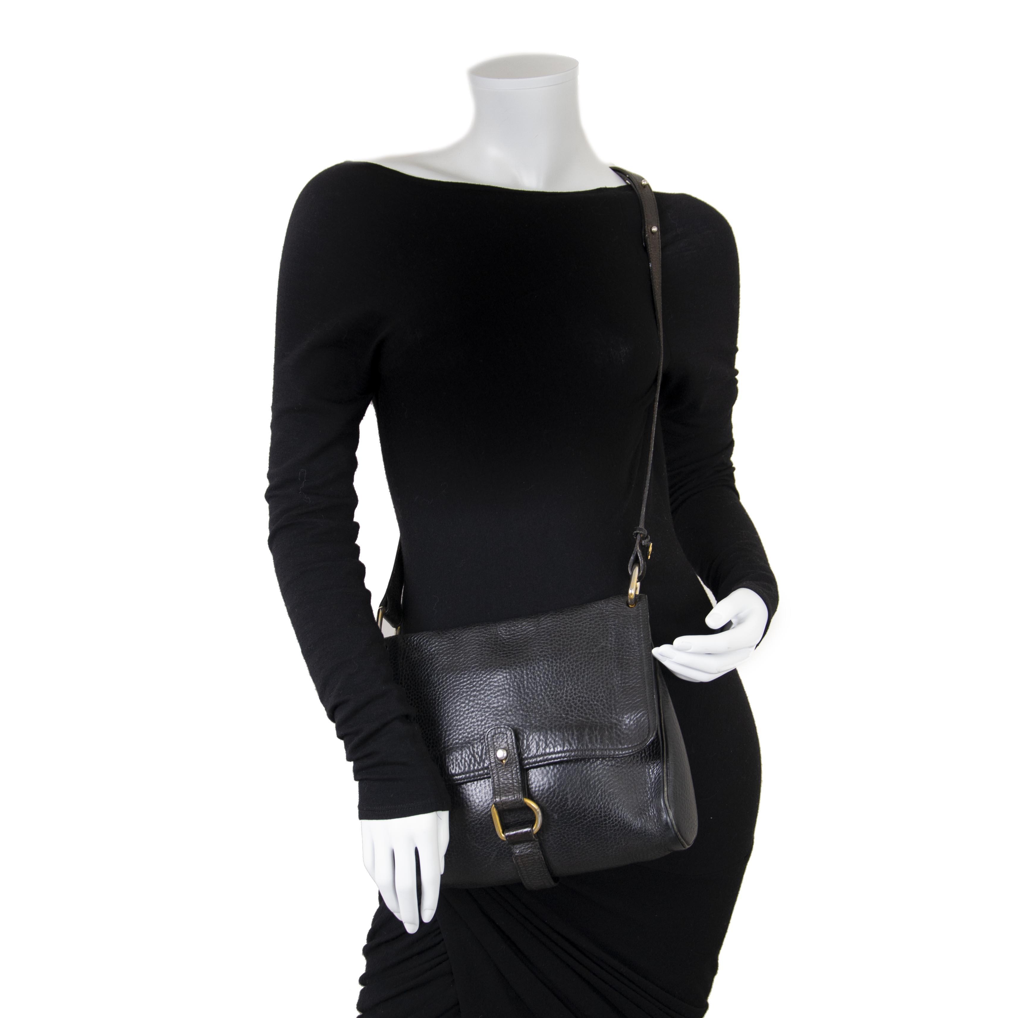 031884bfbd4e ... Delvaux Black Leather Fichu Shoulder Bag now for sale at labellov  vintage fashion webshop belgium